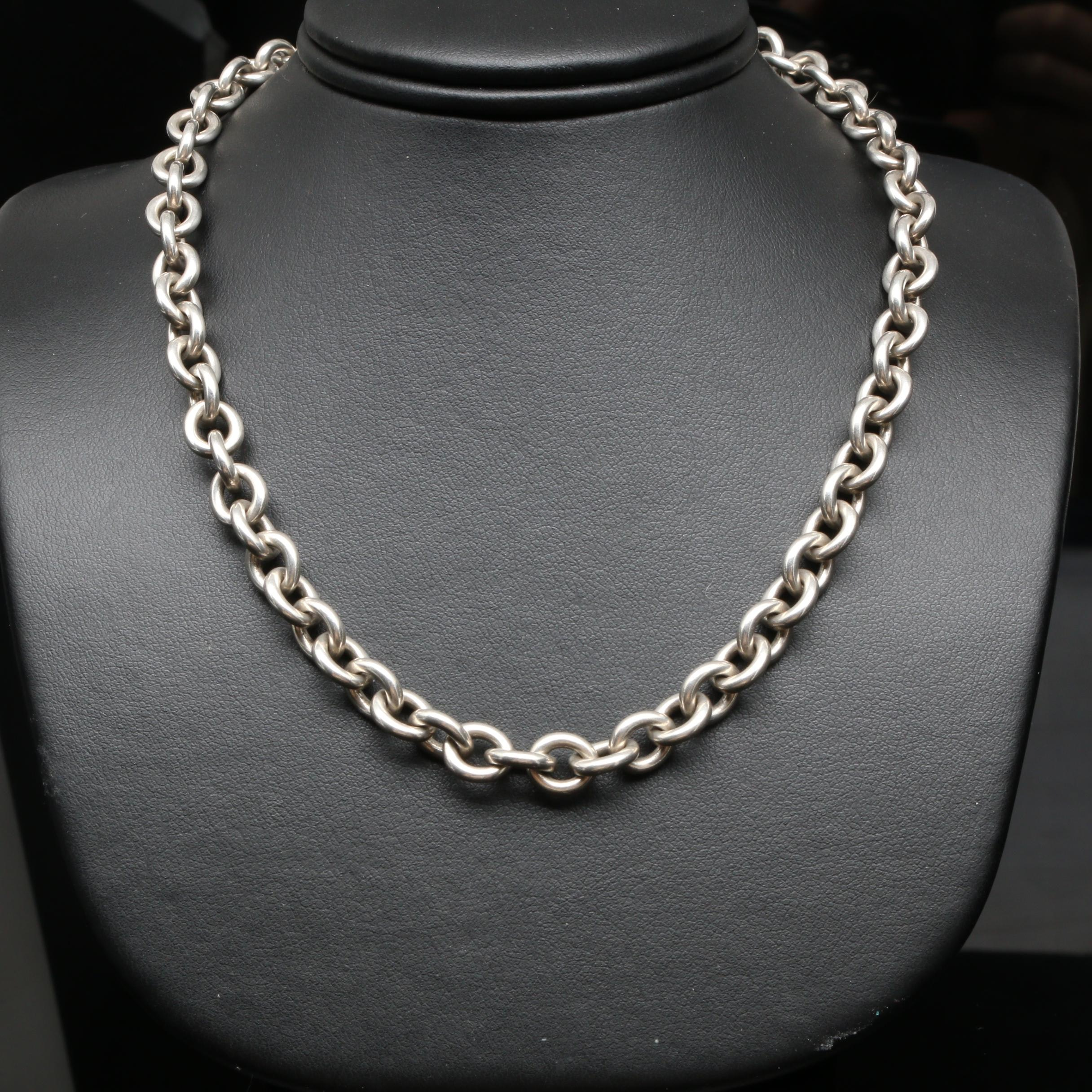 """Tiffany & Co. """"Return to Tiffany"""" Sterling Silver Necklace"""