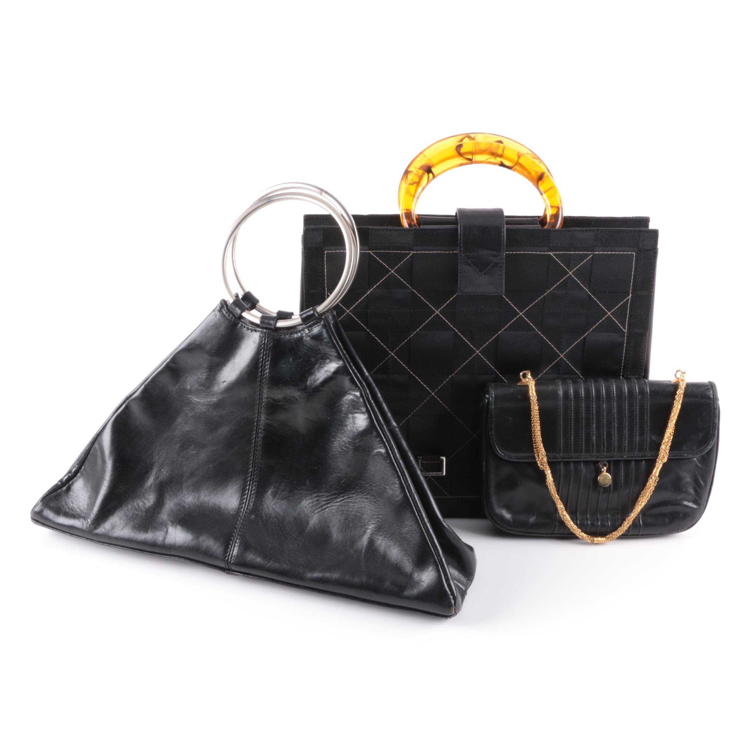 Black Leather Handbags With Jordan McMillian