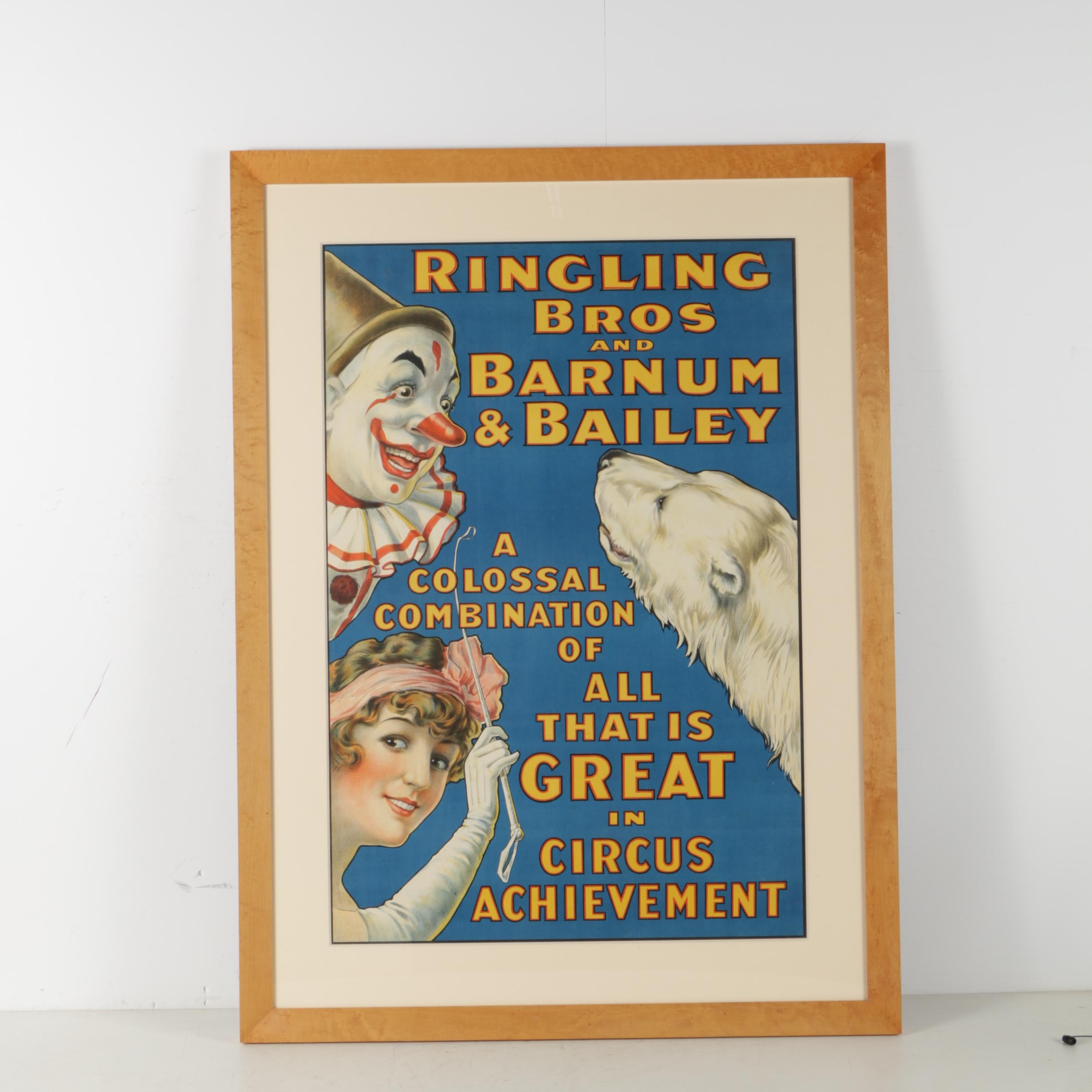Ringling Bros and Barnum & Bailey Color Lithograph Advertisement