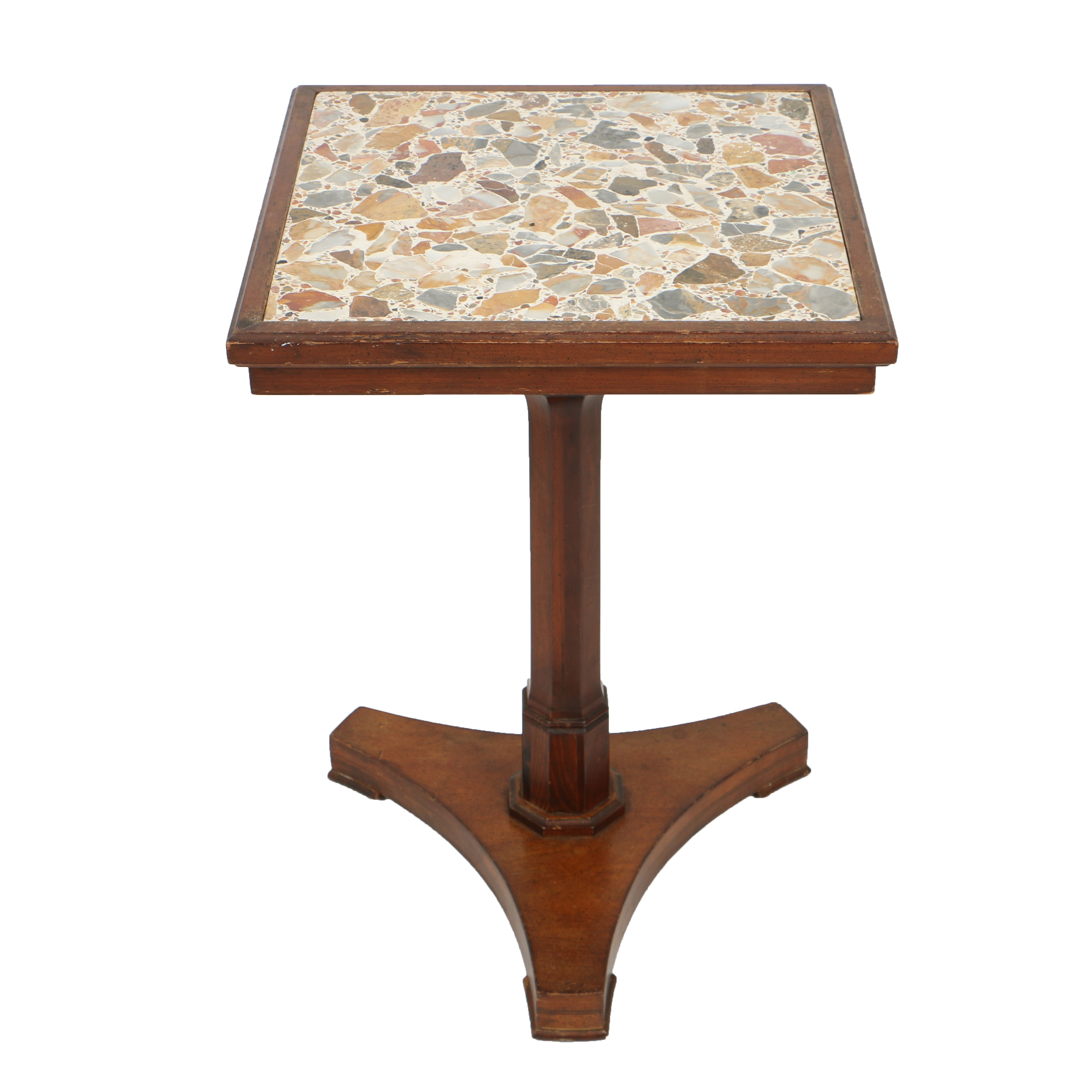 Vintage Side Table with Terrazzo Top by Danby