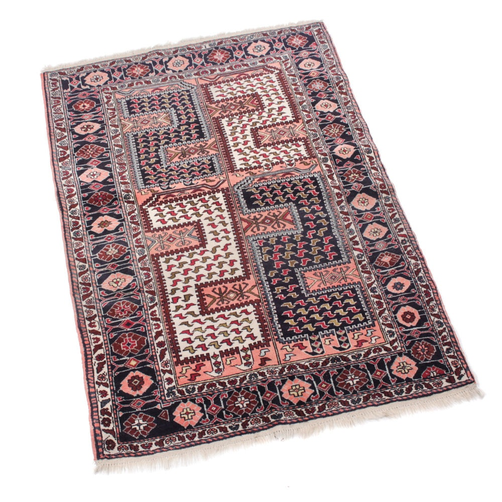 4' x 6' Semi-Antique Hand-Knotted Persian Quchan Khorasan Rug