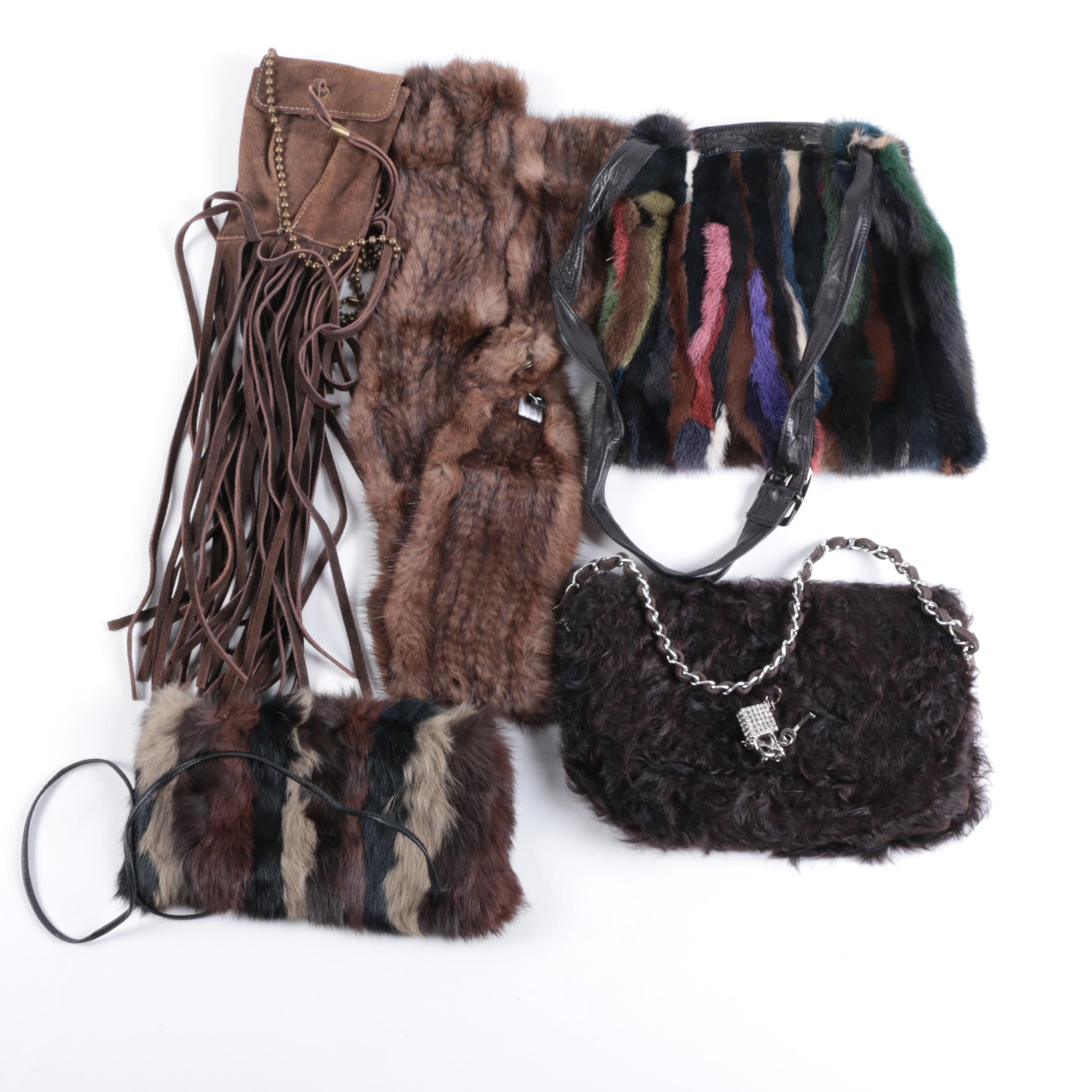 Fur and Suede Handbags and Accessories