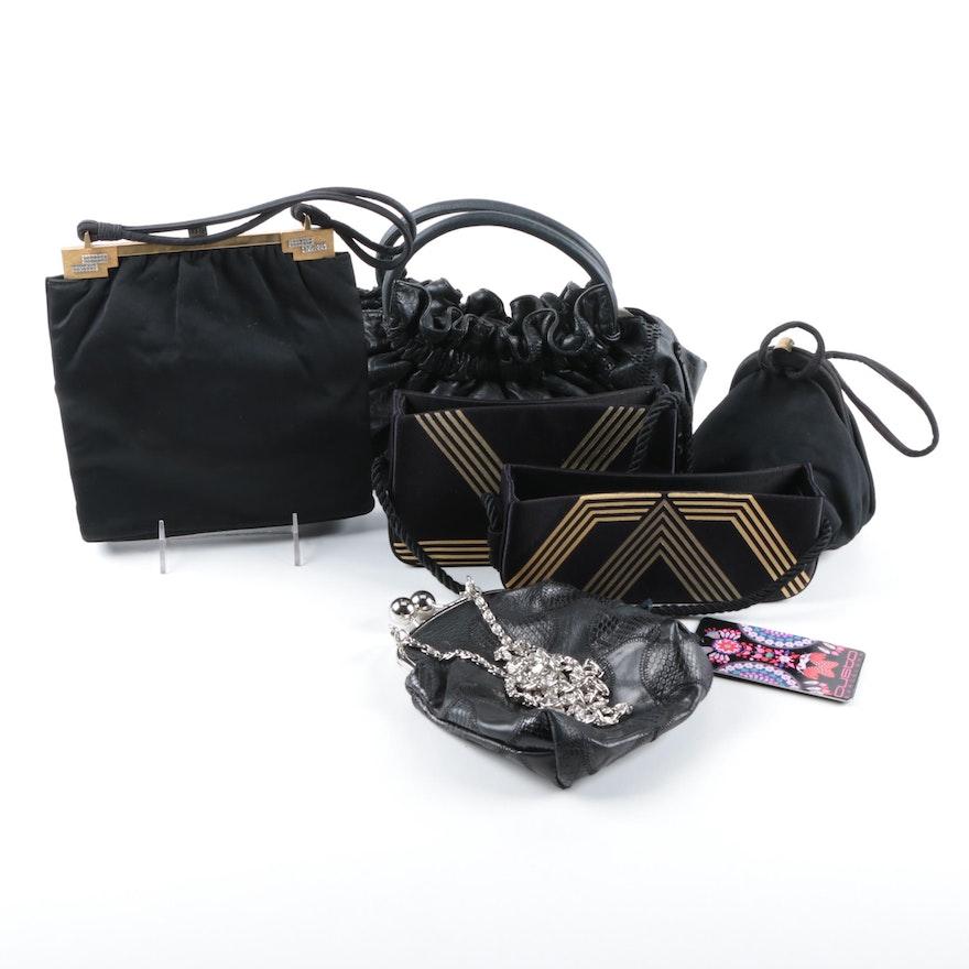Women S Black Handbags Including Sabrina Scala And Rosenfeld