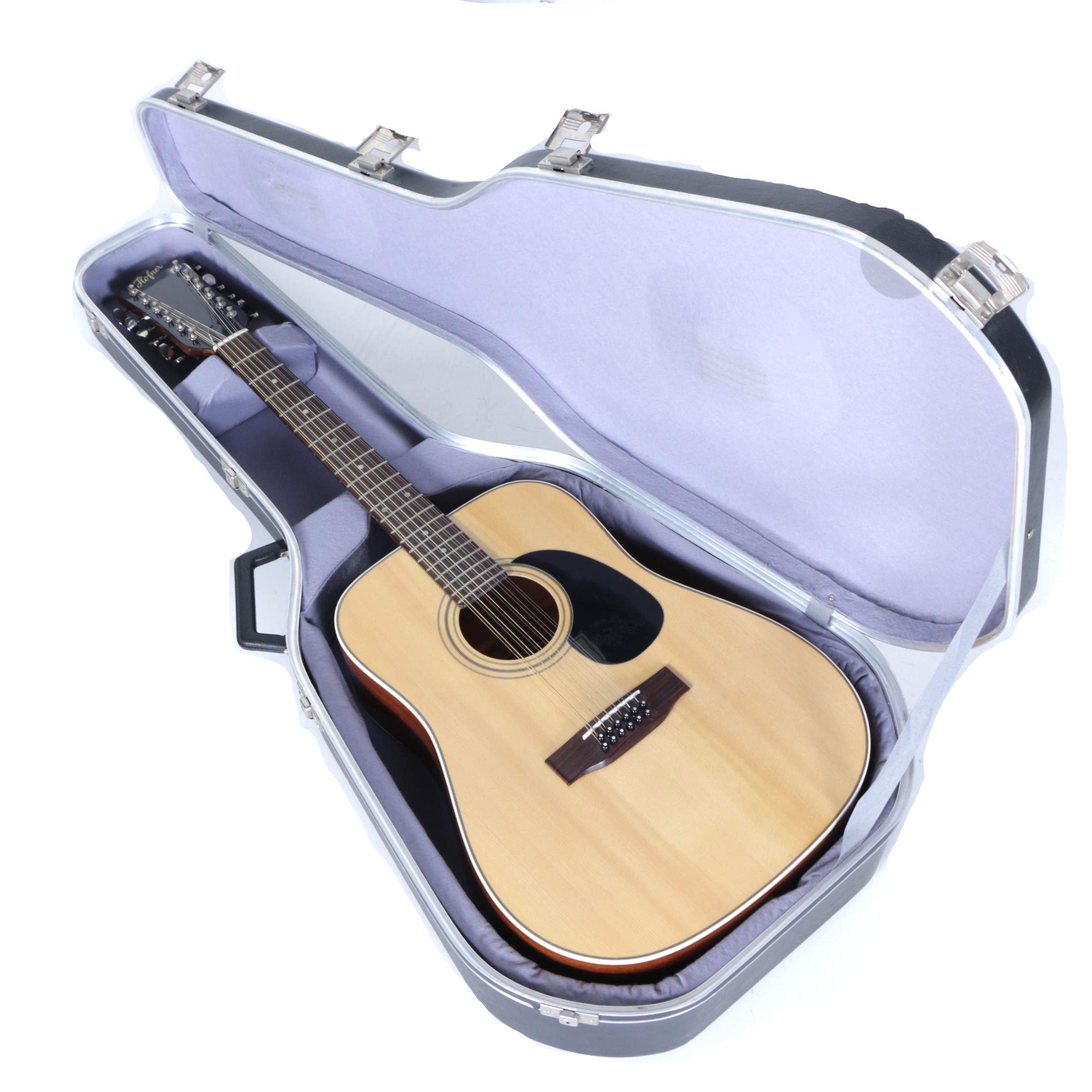 Vintage Höfner Twelve-String Acoustic Guitar with Hardshell Case
