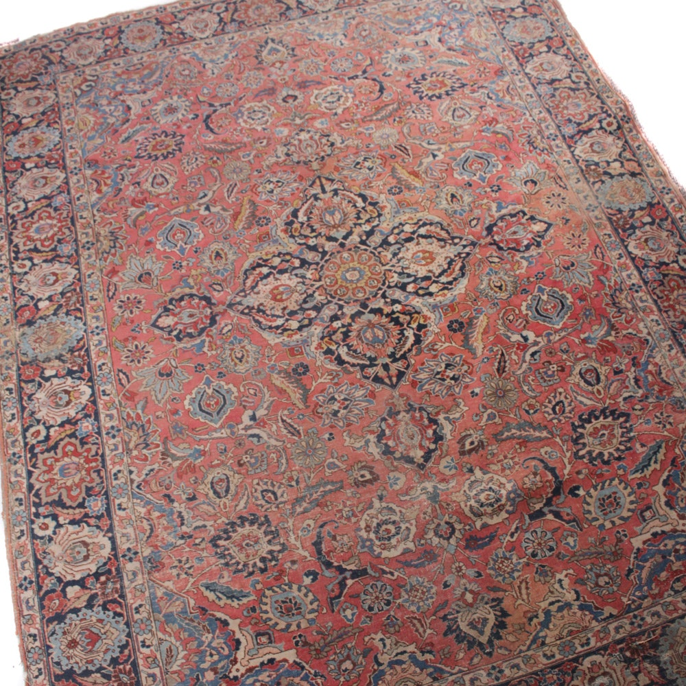 8' x 11' Antique Hand-Knotted Persian Tabriz Rug
