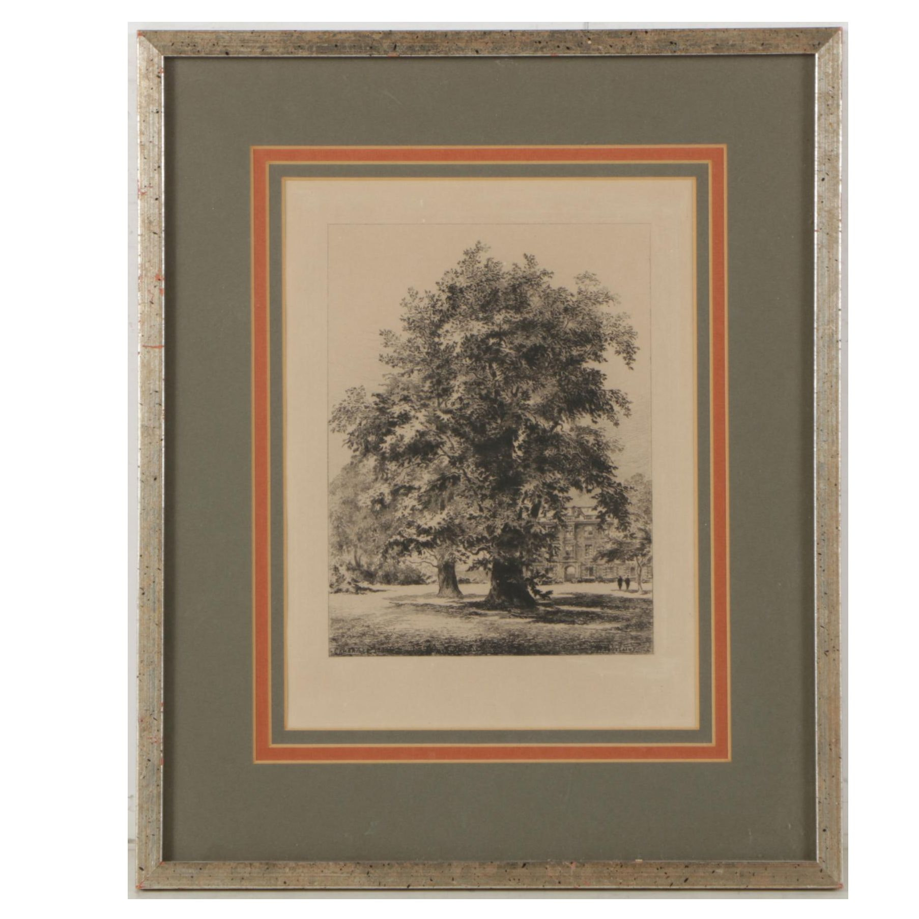 """Etching After Henri Toussaint """"Cambridge"""""""