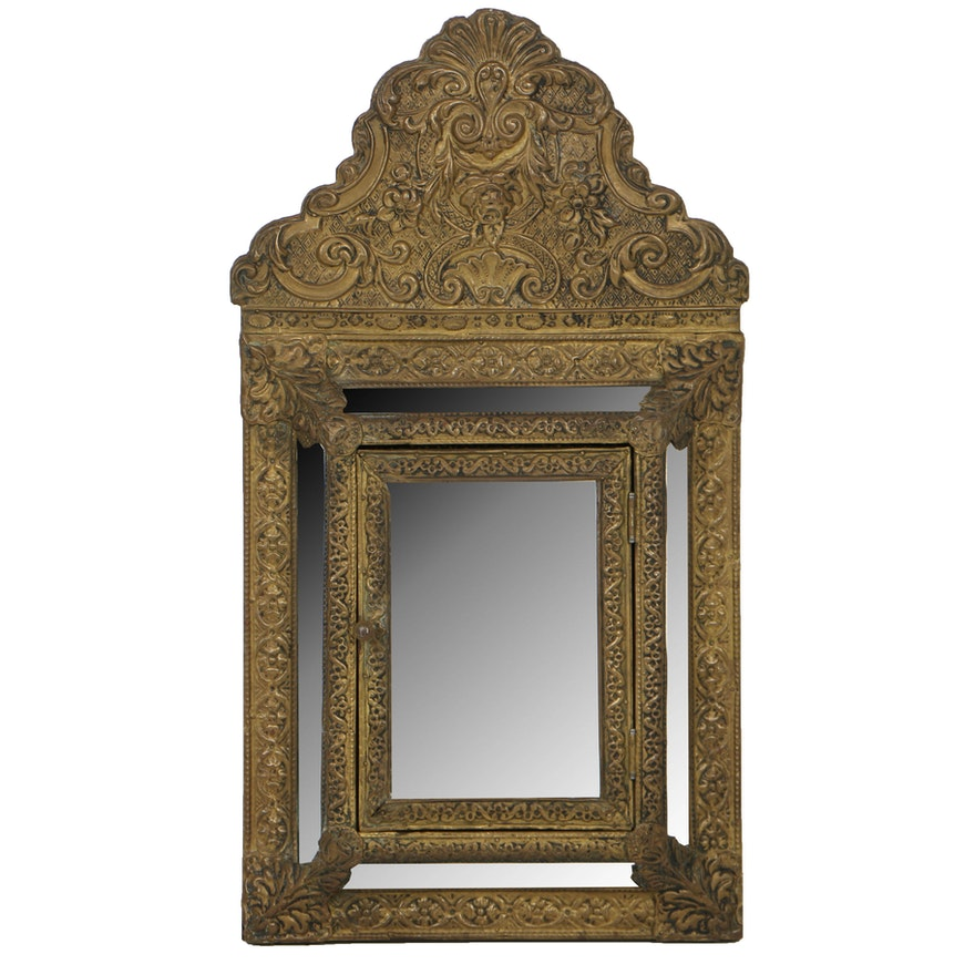 Antique Brass Over Wood Key Cabinet ... - Antique Brass Over Wood Key Cabinet : EBTH