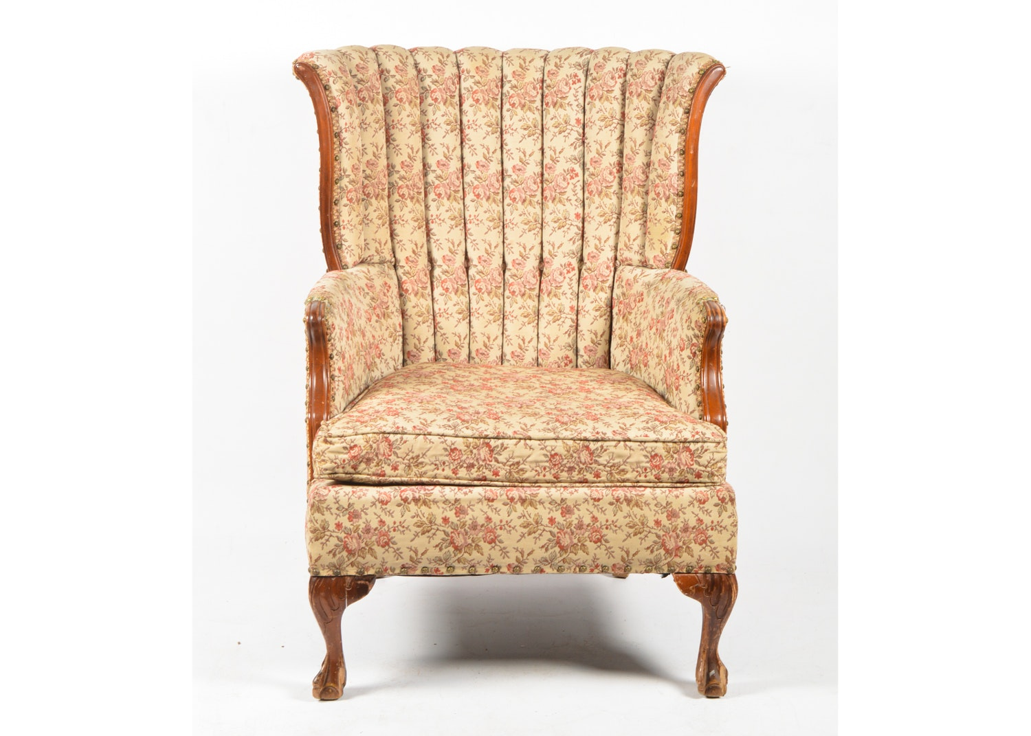 Vintage Chippendale Style Armchair