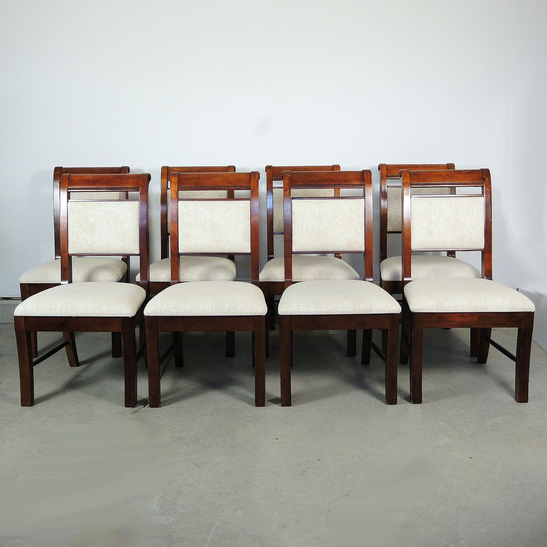 Bassett Furniture Traditional Cherry Dining Chairs