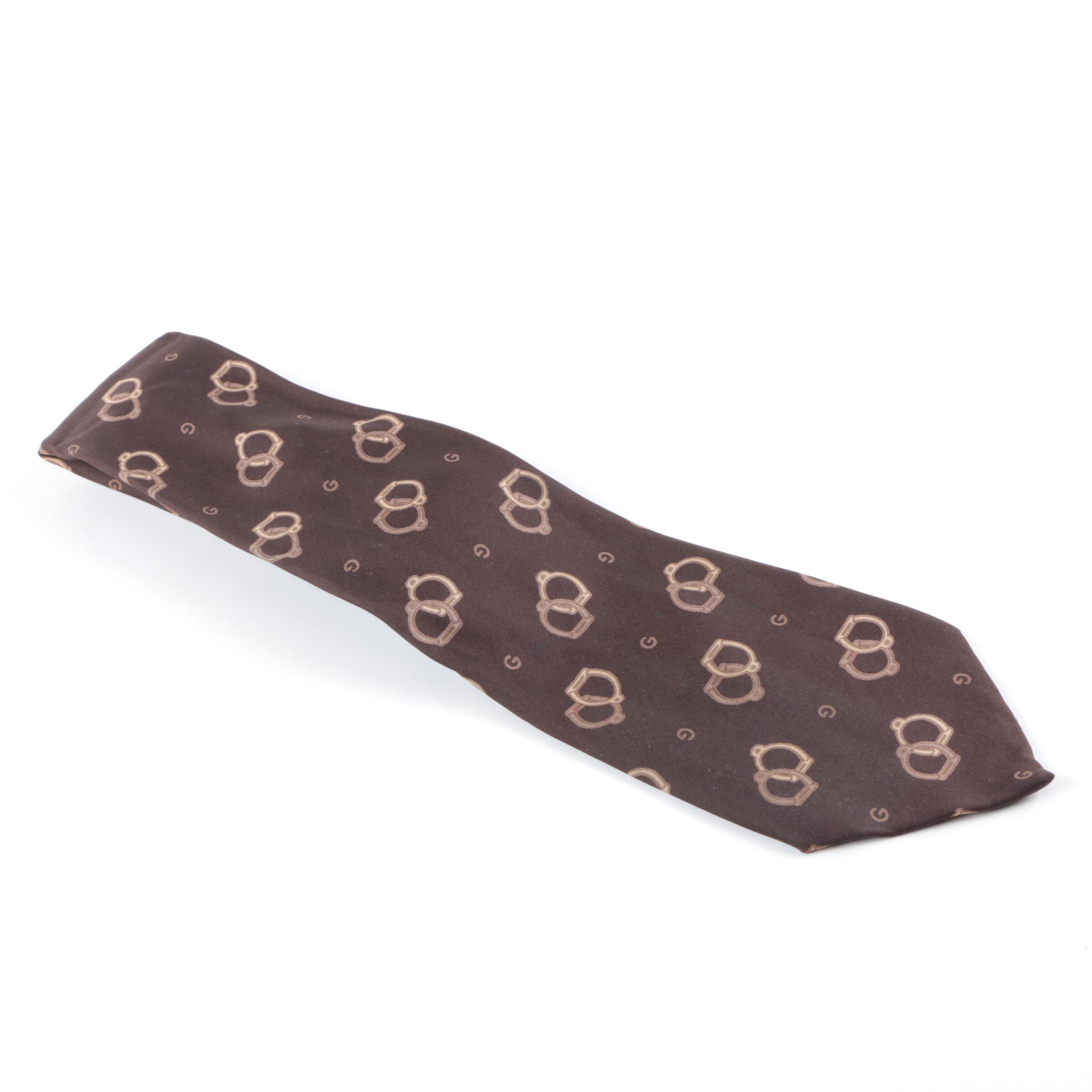 Vintage Gucci Silk Necktie
