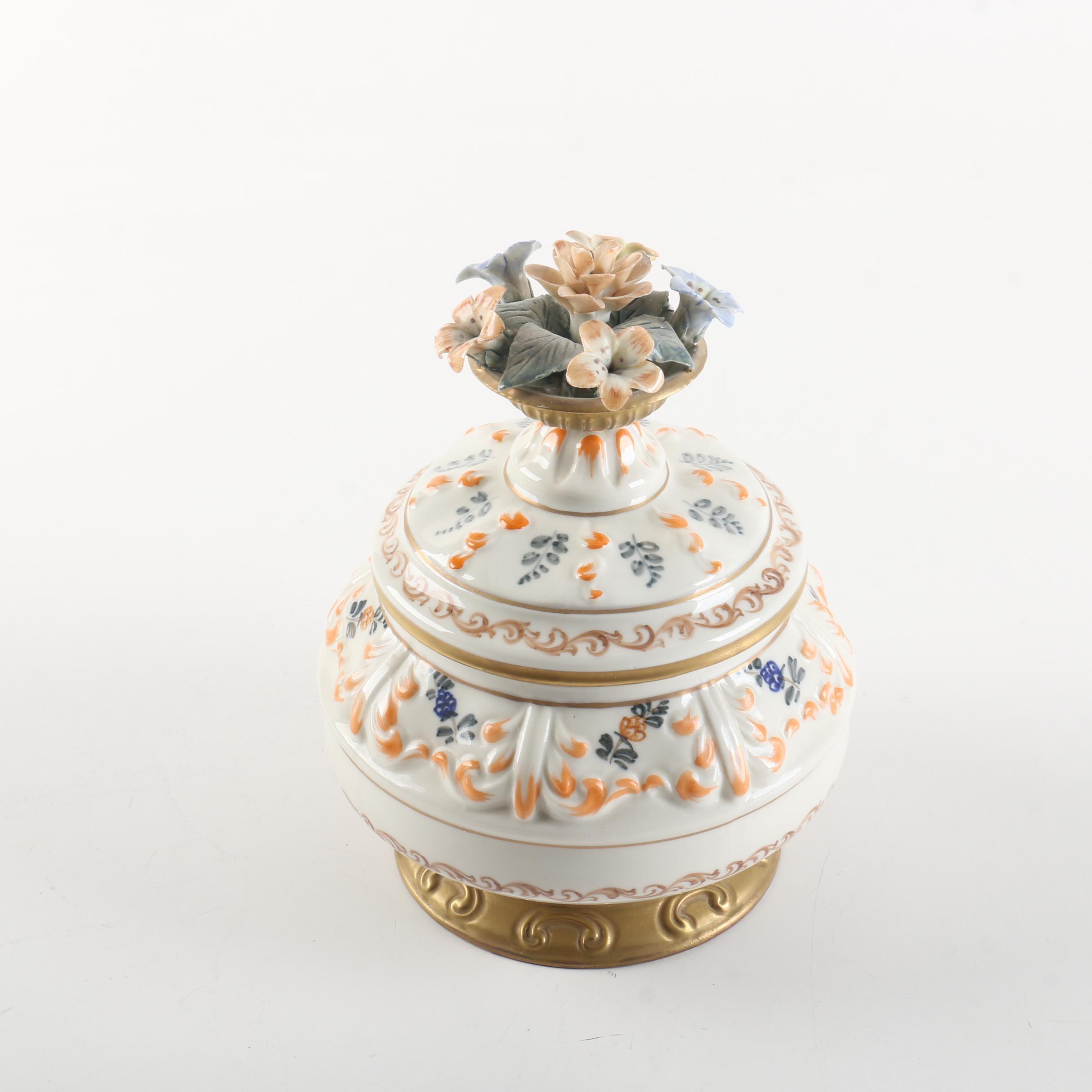 French Porcelain Lidded Bowl