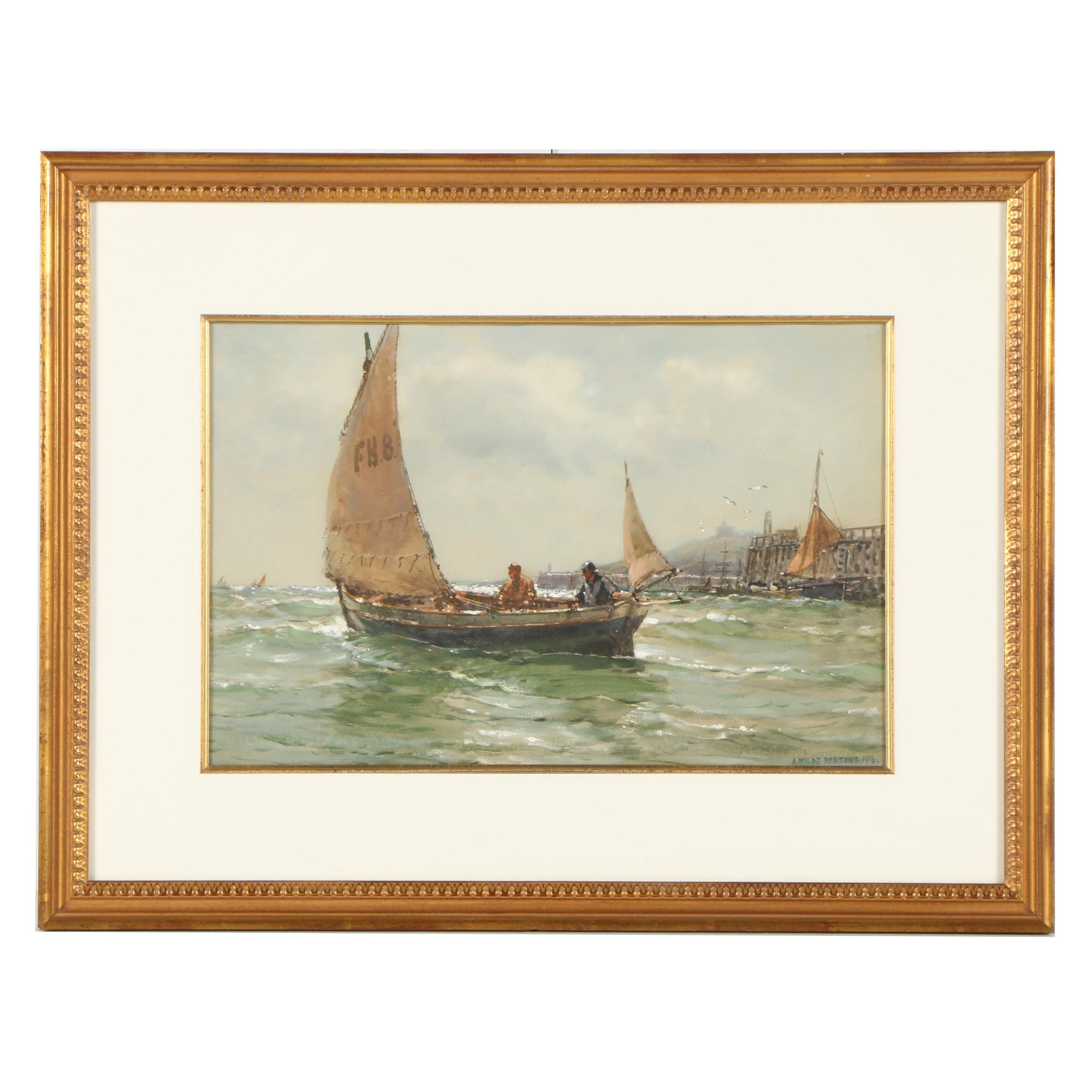 Arthur Wilde Parsons Watercolor Painting