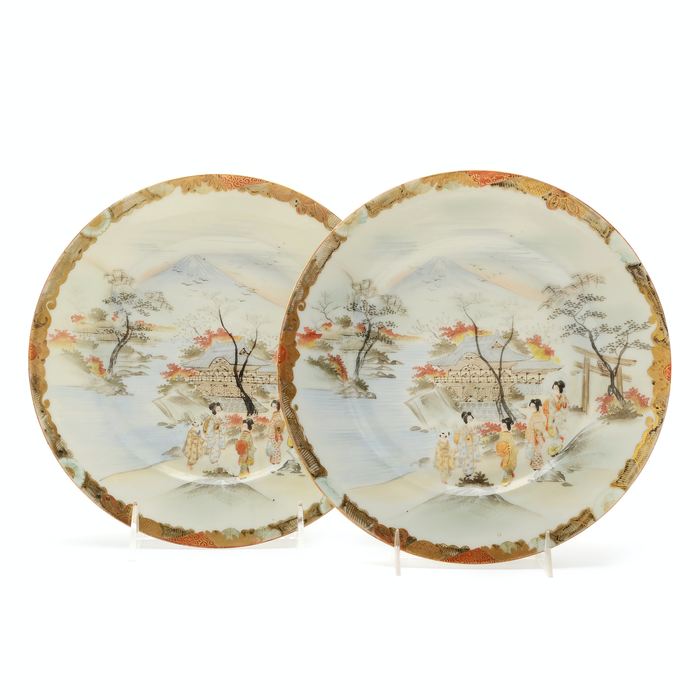 Pair Of Late 19th Century Japanese Plates