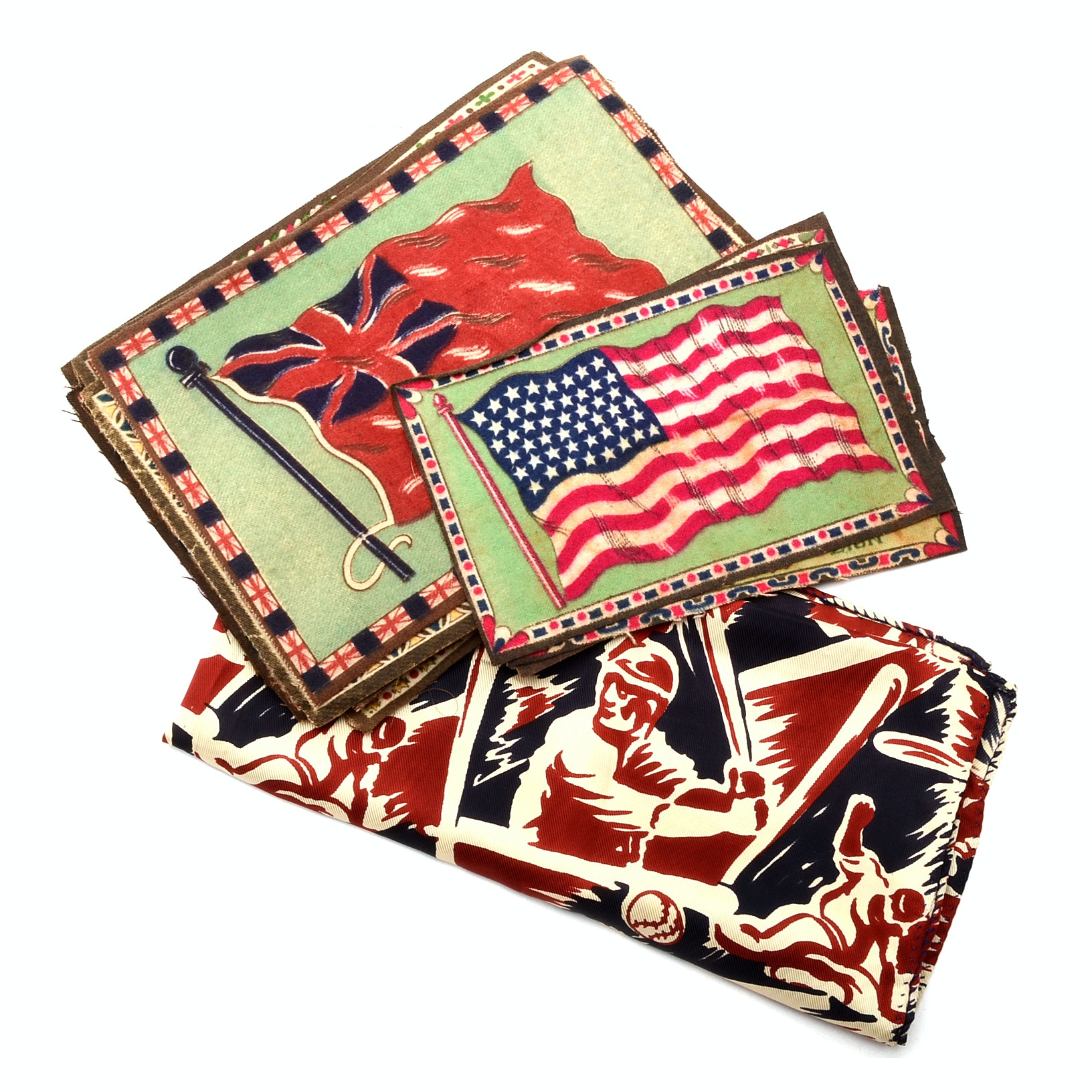 Collection of Vintage Cigar Box Felts with Flags