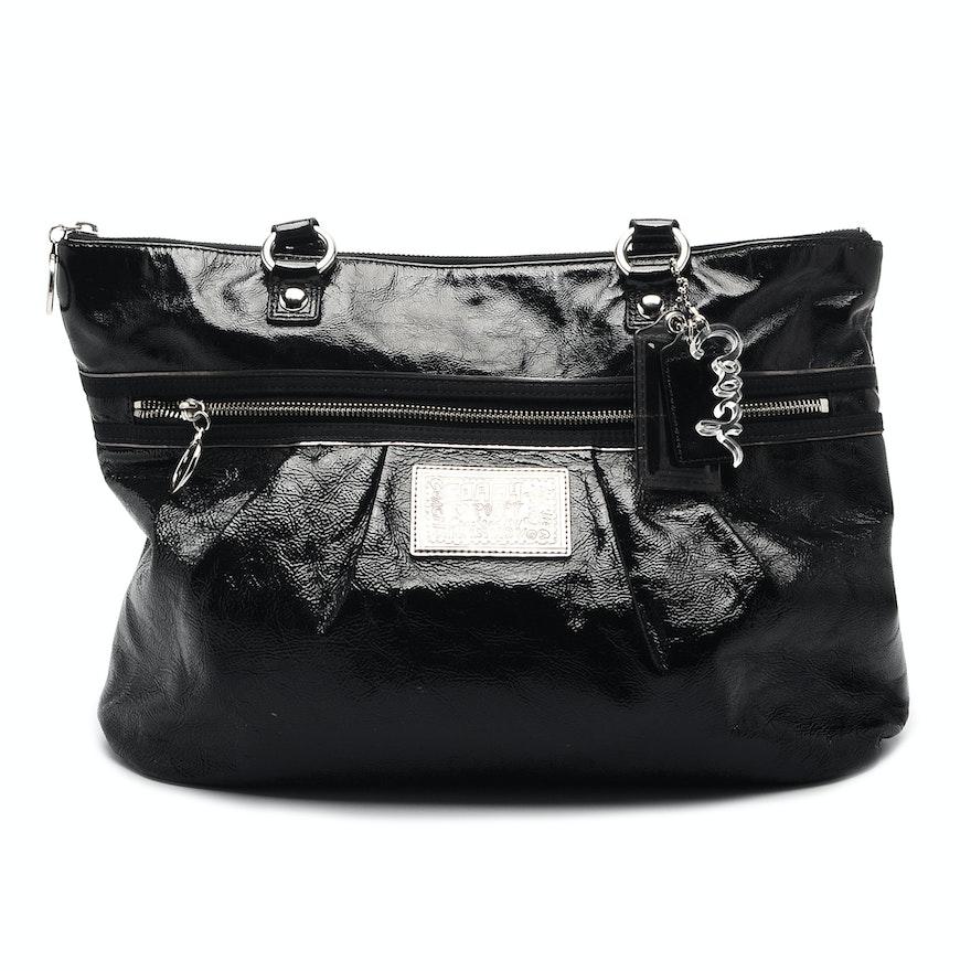 56c562a819 Coach Poppy Patent Leather Handbag   EBTH