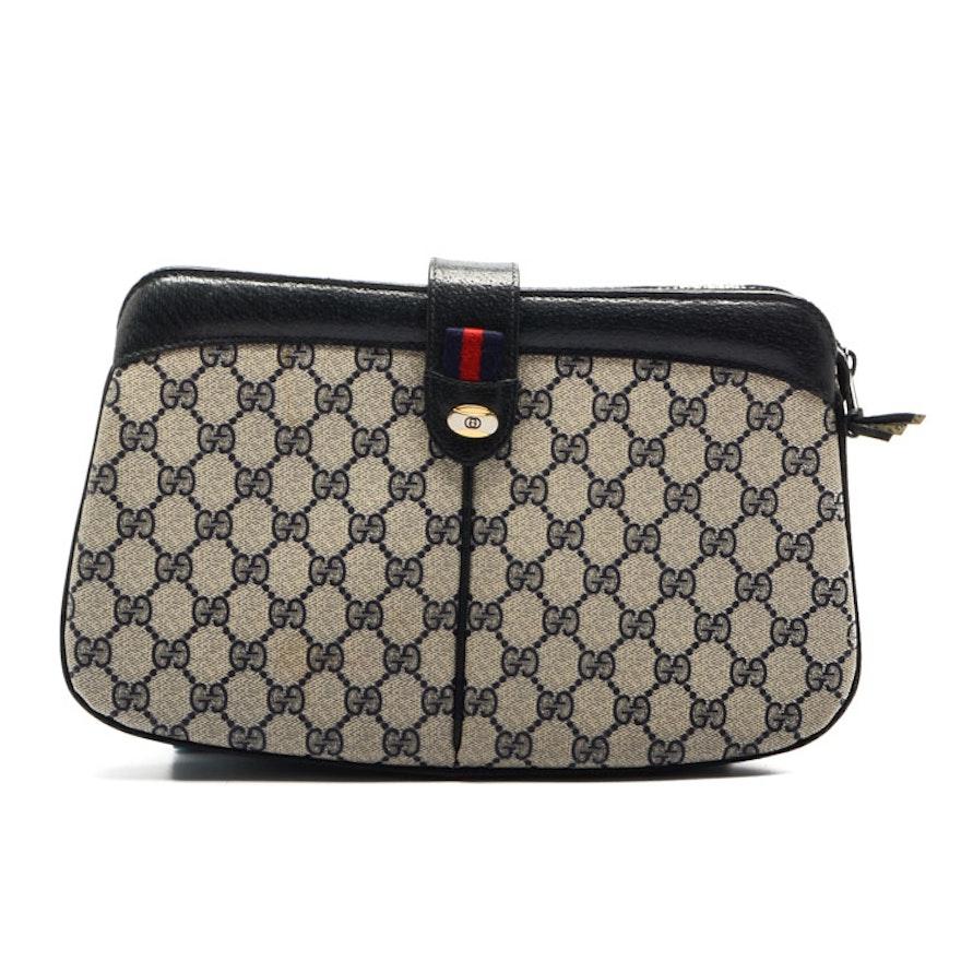 65a67236f4a Vintage Gucci Monogram Clutch Handbag   EBTH