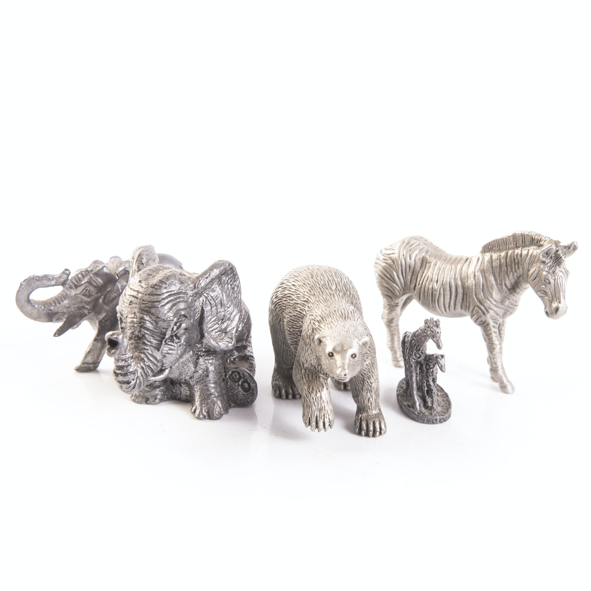 Wild Animal Themed Pewter Figurines