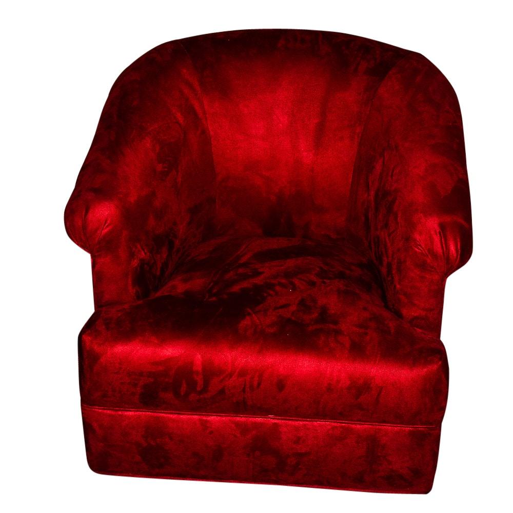 Red Velvet Club Chair