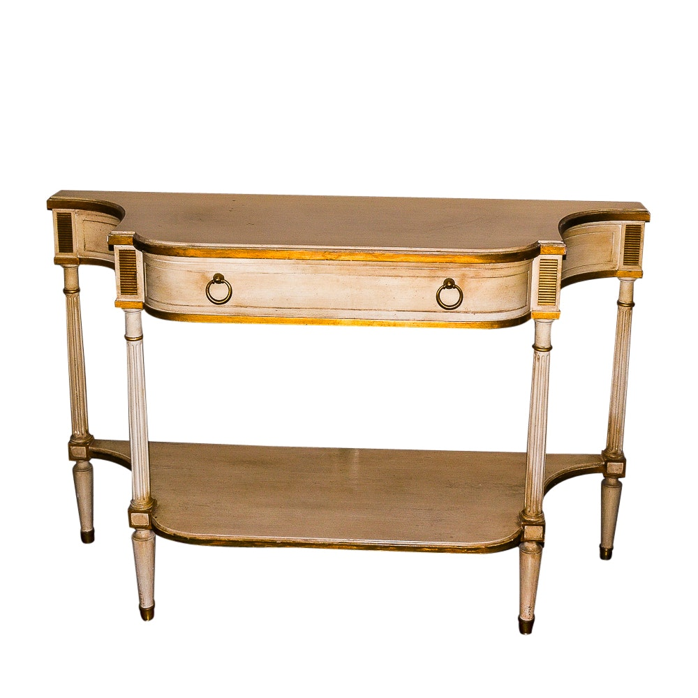 Superieur Cream And Gold Louis XVI Style Console Table By Baker Furniture ...