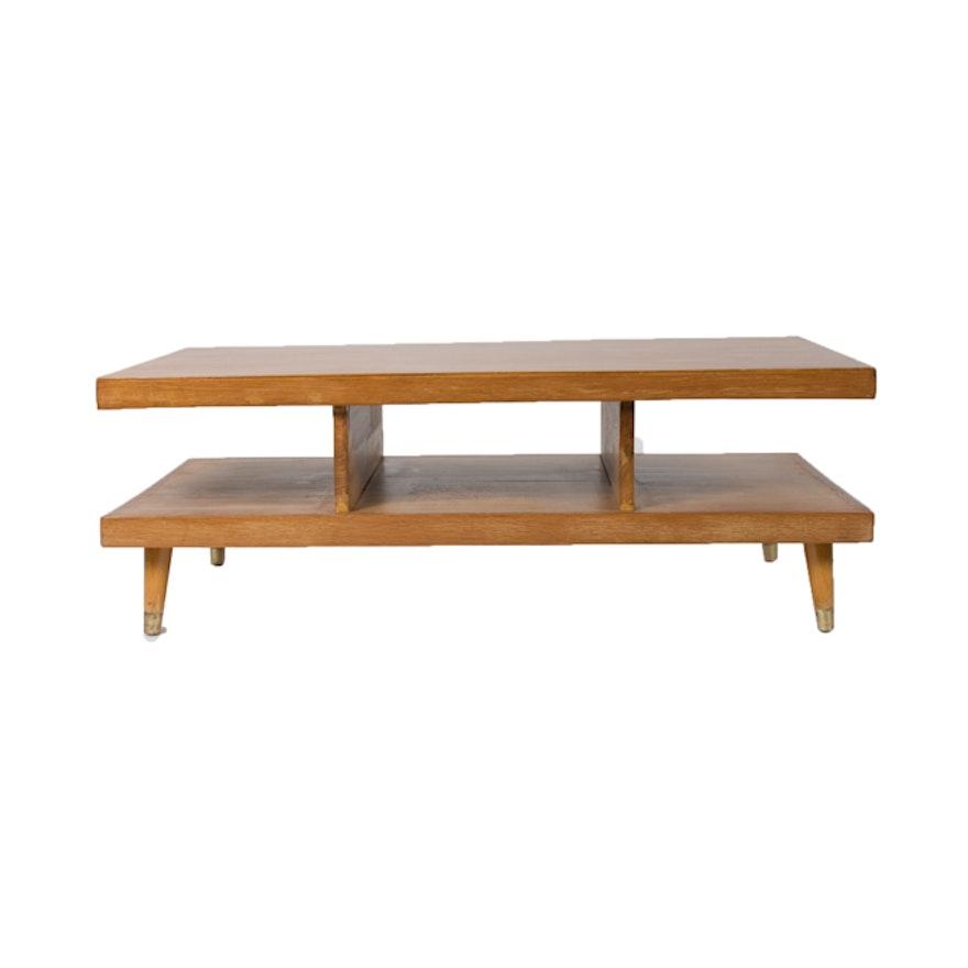Mid Century Modern Oak Coffee Table EBTH - Mid century oak coffee table