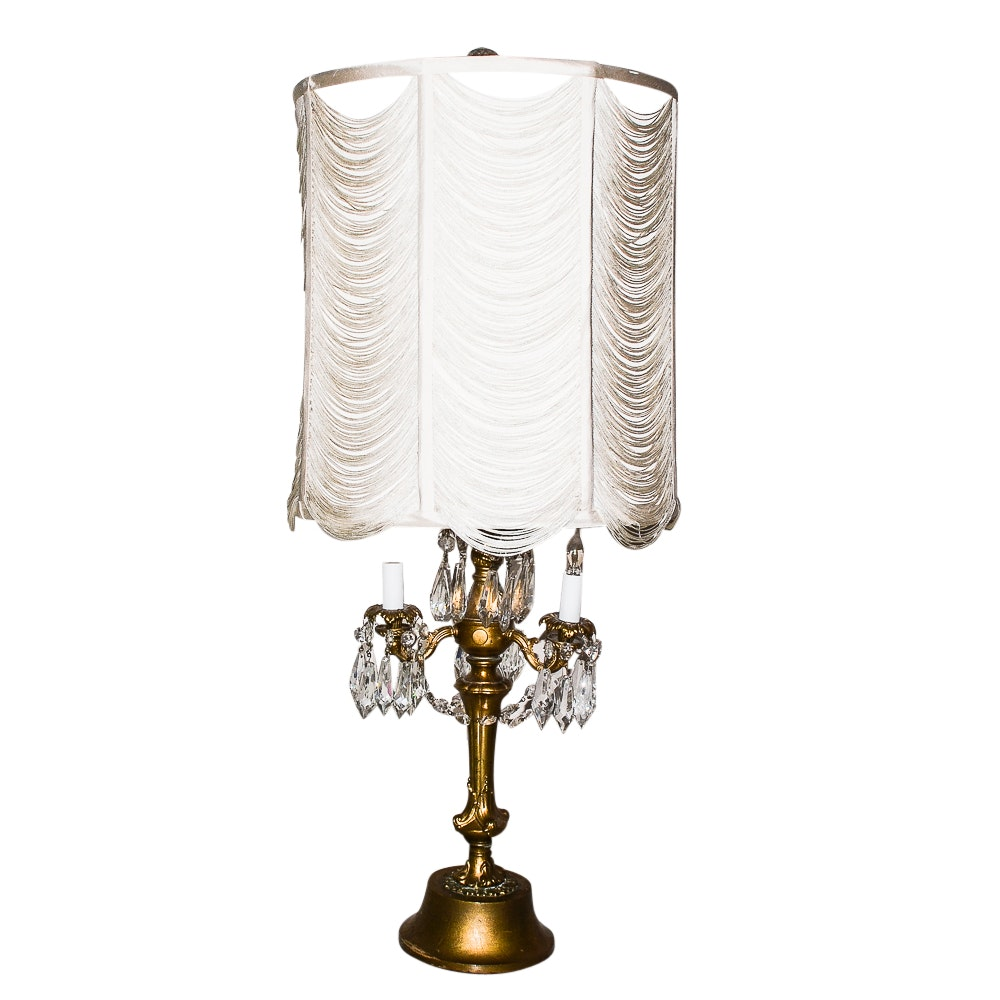 Vintage Hollywood Regency-Style Girandole  Table Lamp