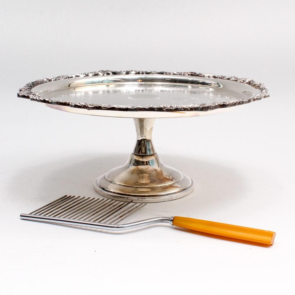 Sheridan Silver Plate Cake Plate and Cake Breaker ...  sc 1 st  EBTH.com & Sheridan Silver Plate Cake Plate and Cake Breaker : EBTH