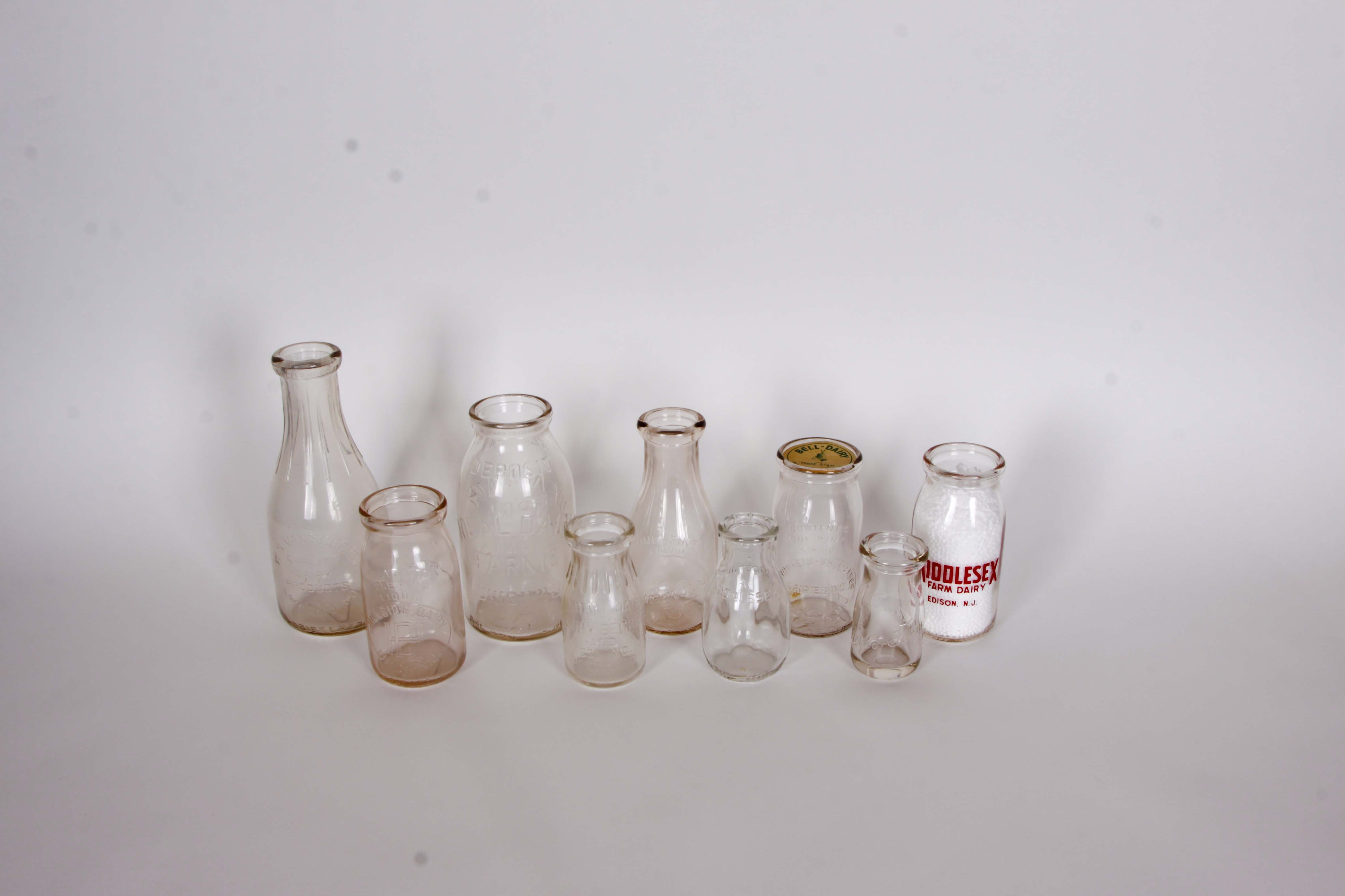 New Jersey Milk Bottle Assortment