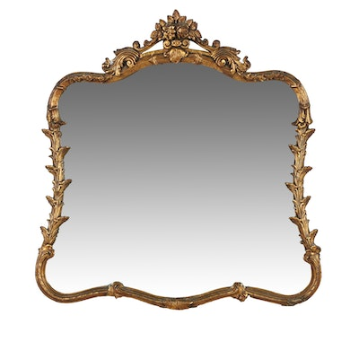 Vintage French Rococo Style Wall Mirror