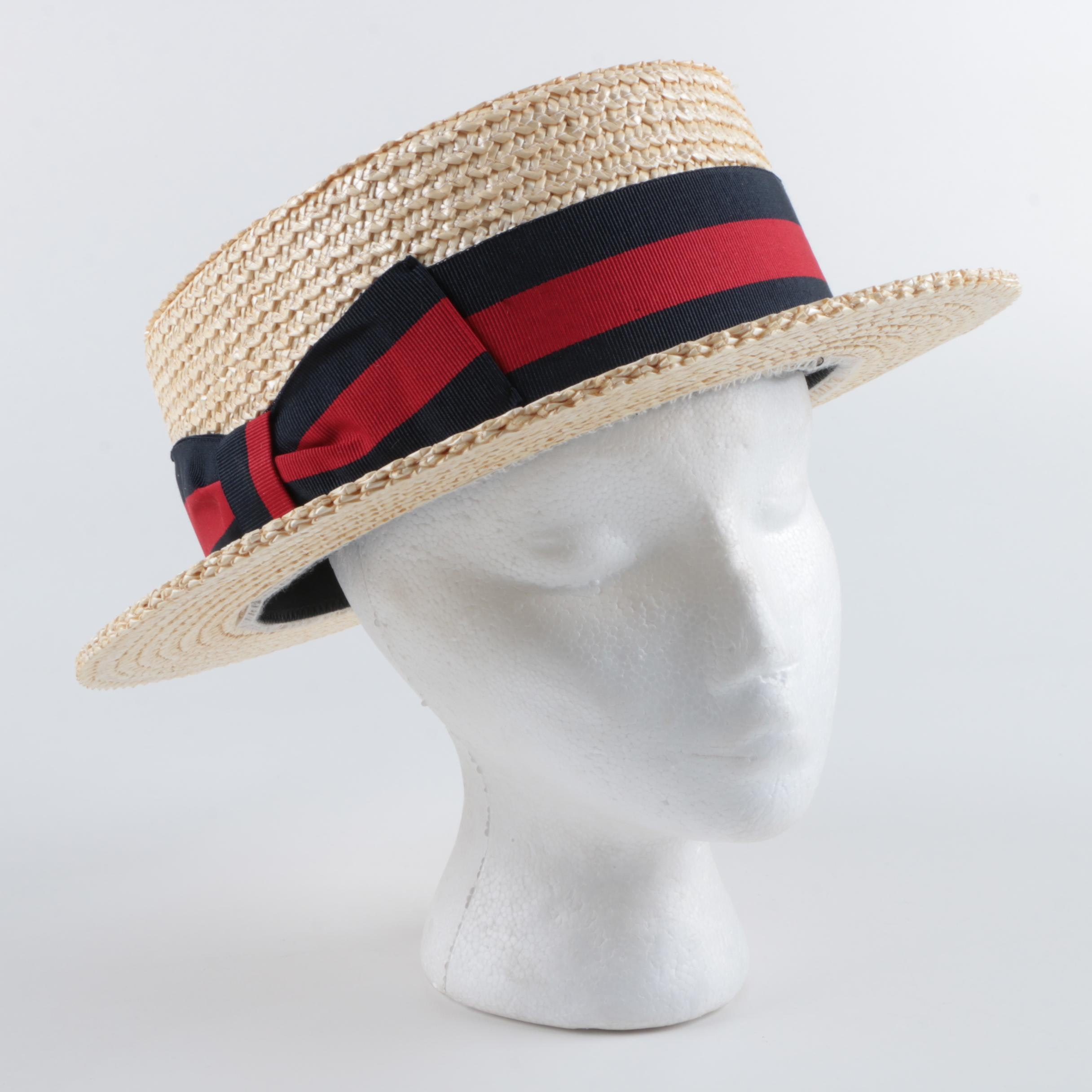 Ponte Rialto Italian Made Gondala Woven Straw Hat