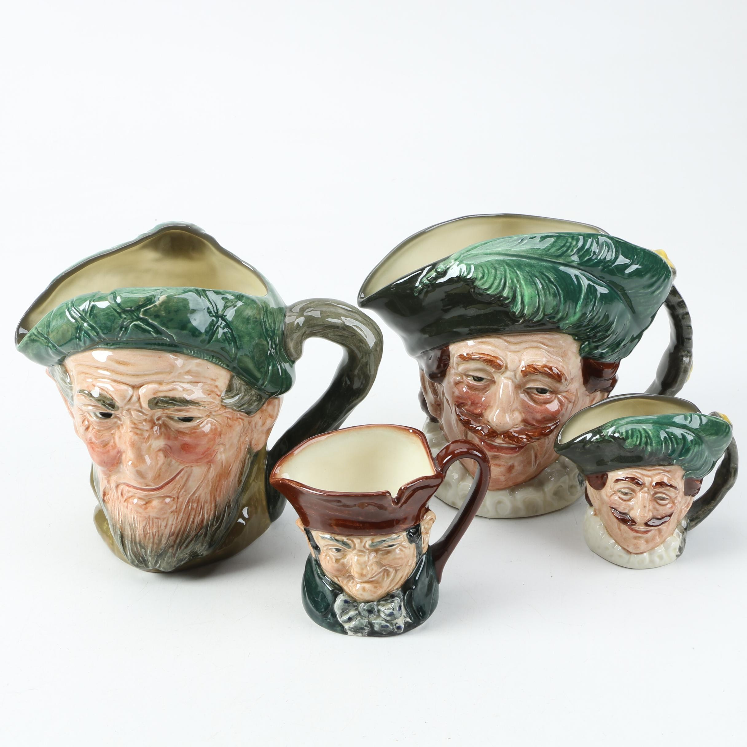 "Vintage Royal Doulton Ceramic Character Mugs Including ""The Cavalier"""