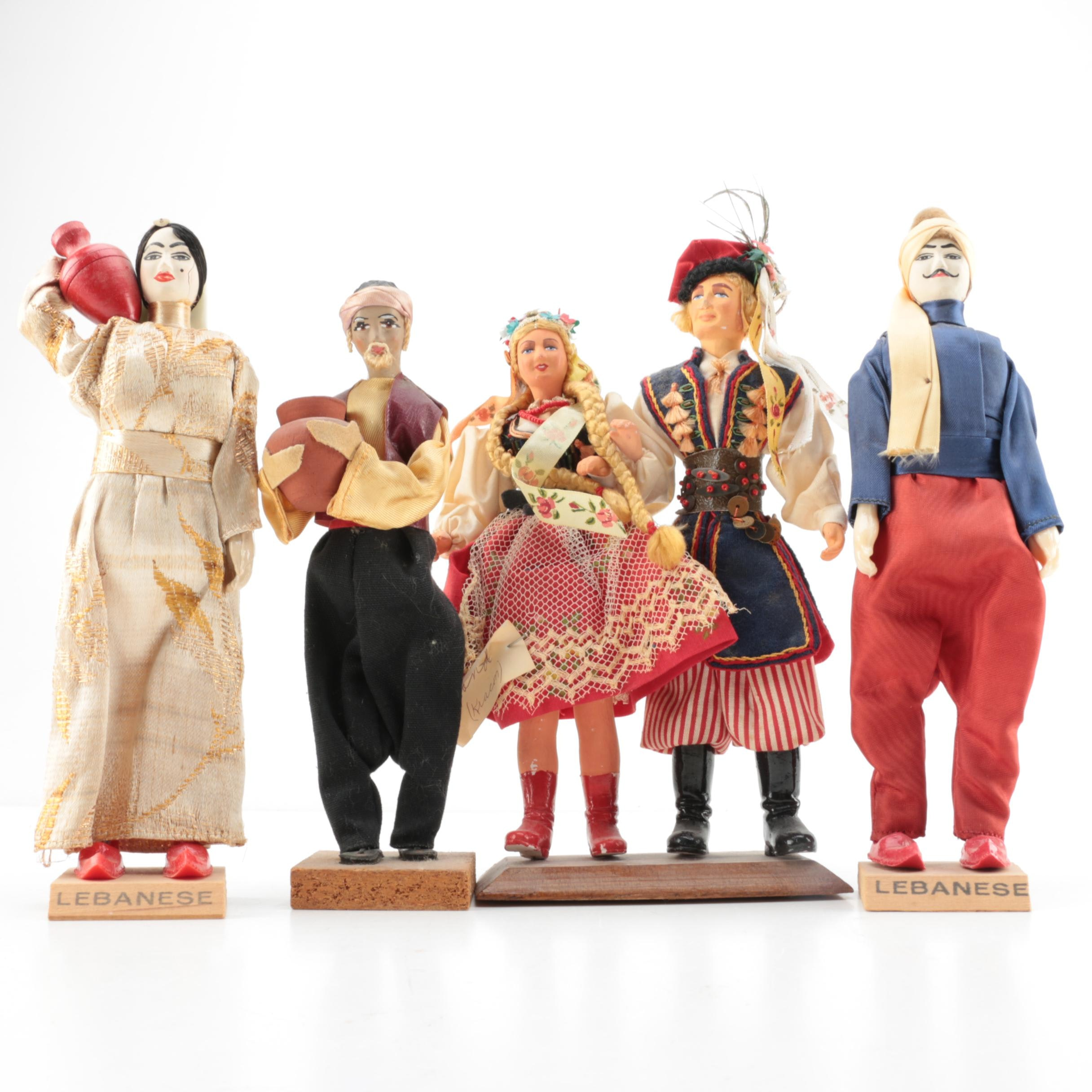 Hand Carved Wooden Figurines featuring Sabra Israel