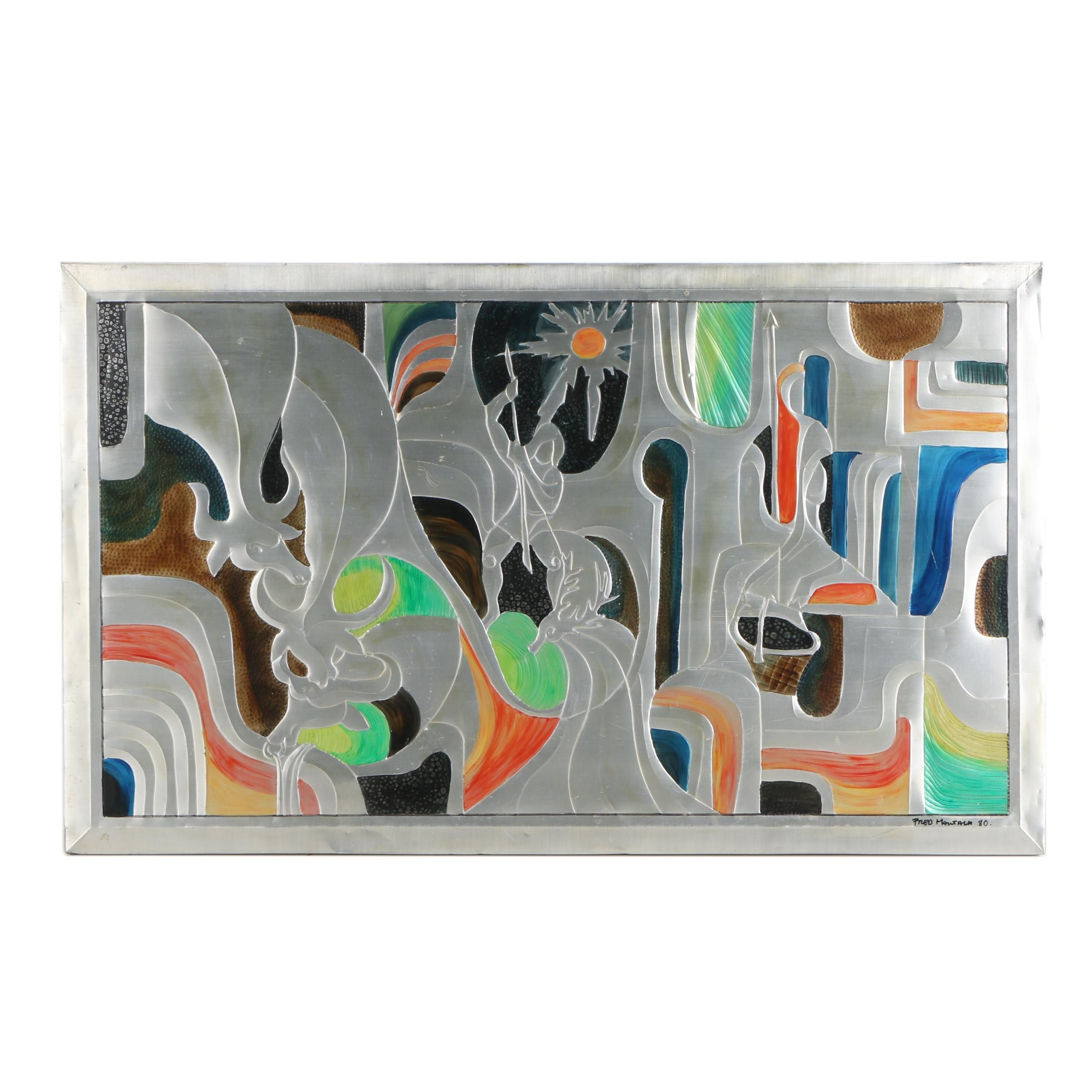 Fred Mautalk Embossed Metal Painting