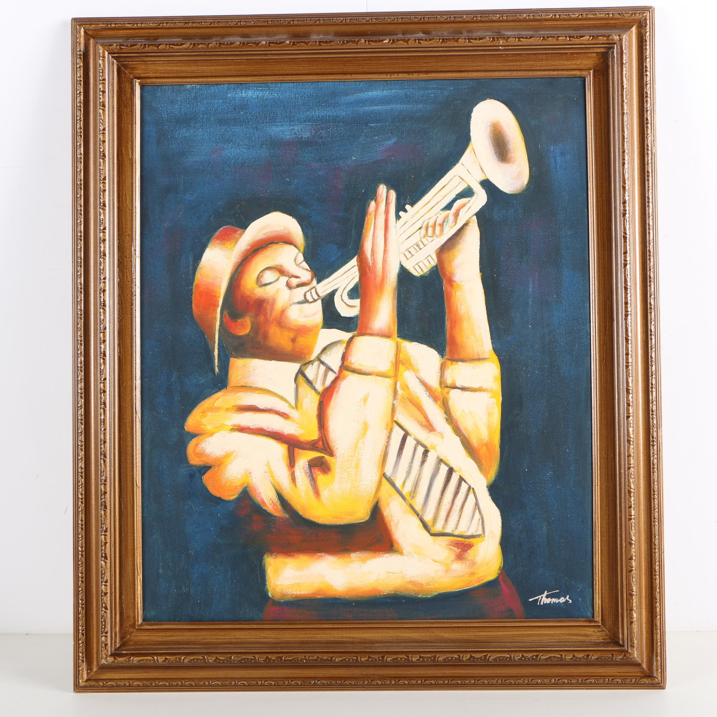 Thomas Oil Painting of Trumpet Player