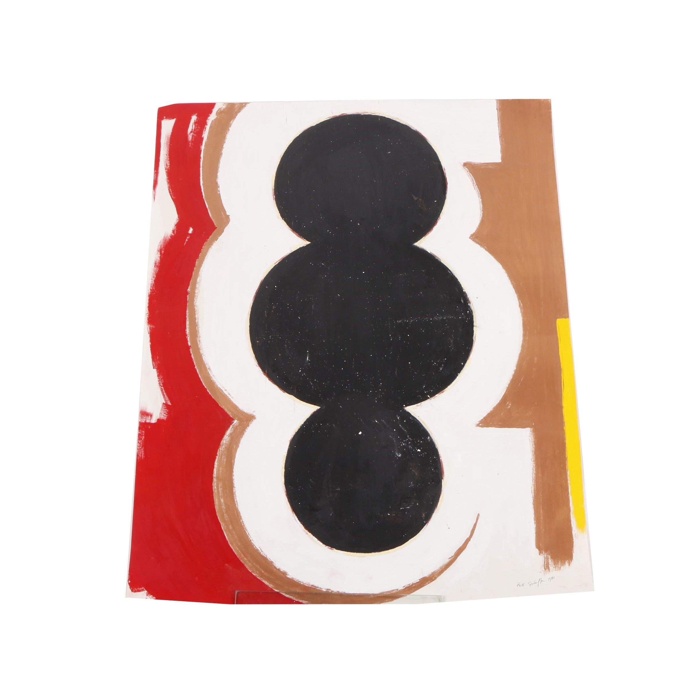 1980 Bill Schiffer Abstract Acrylic Painting