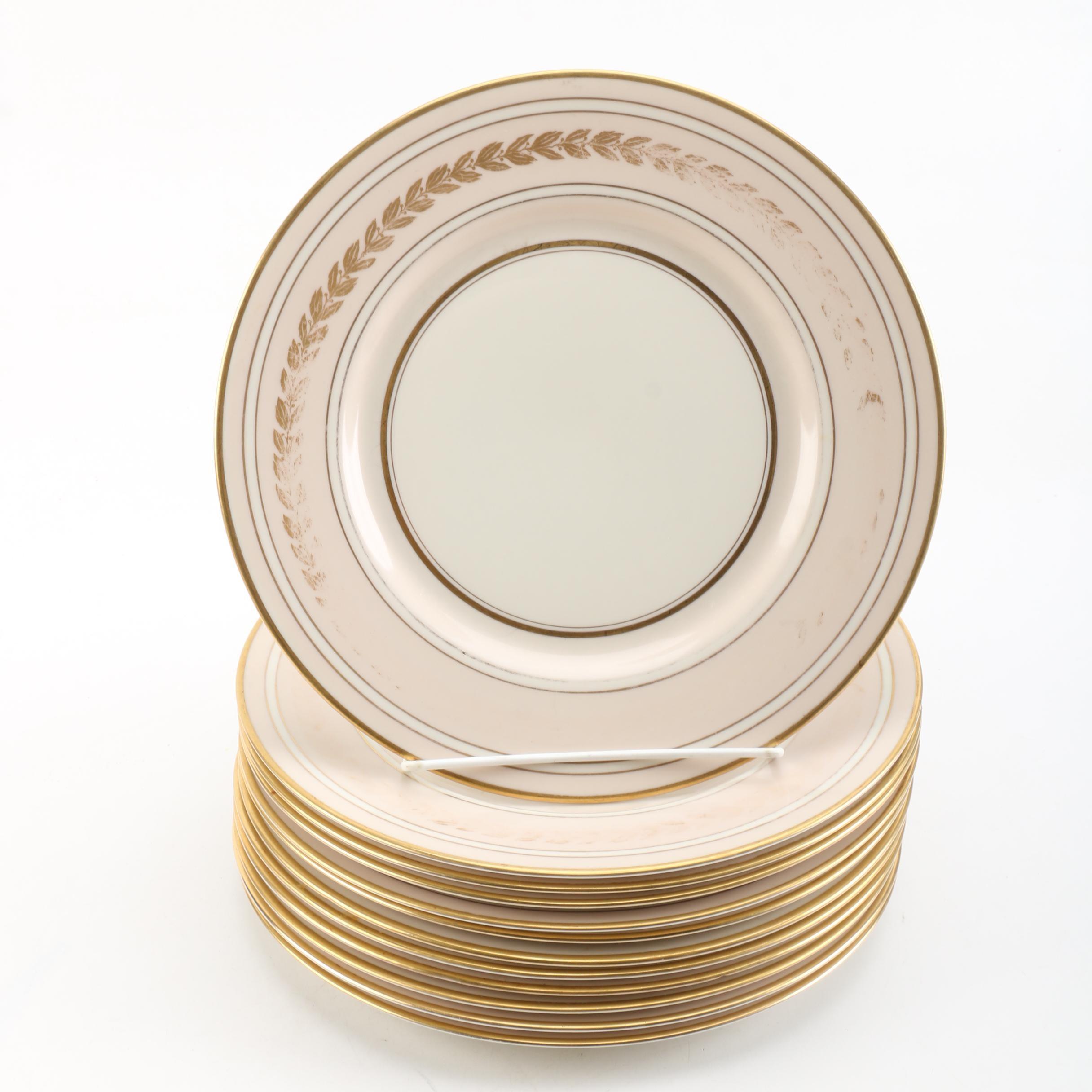 Fine Concorde China Gilded Porcelain Plates