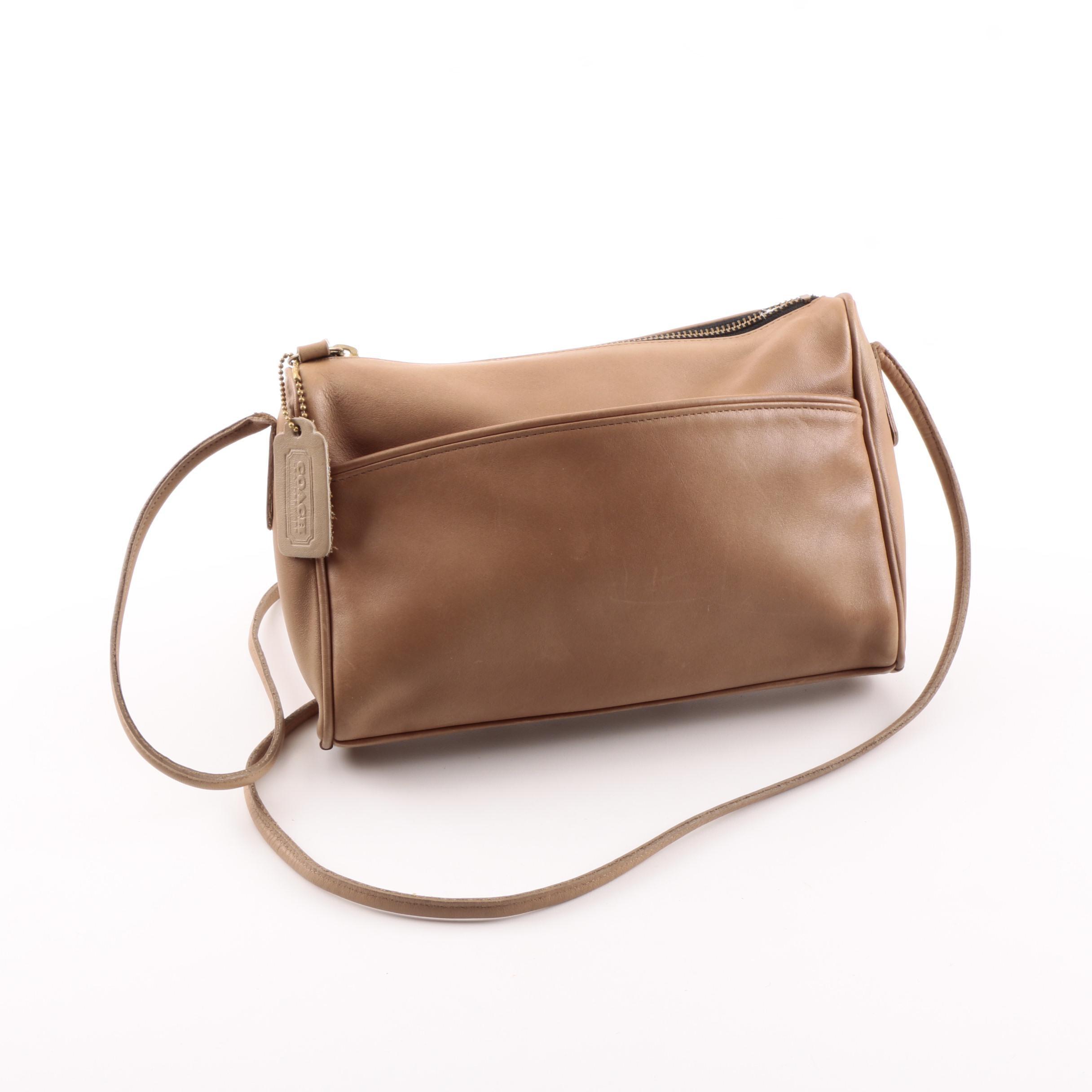 Coach Brown Leather Crossbody Bag