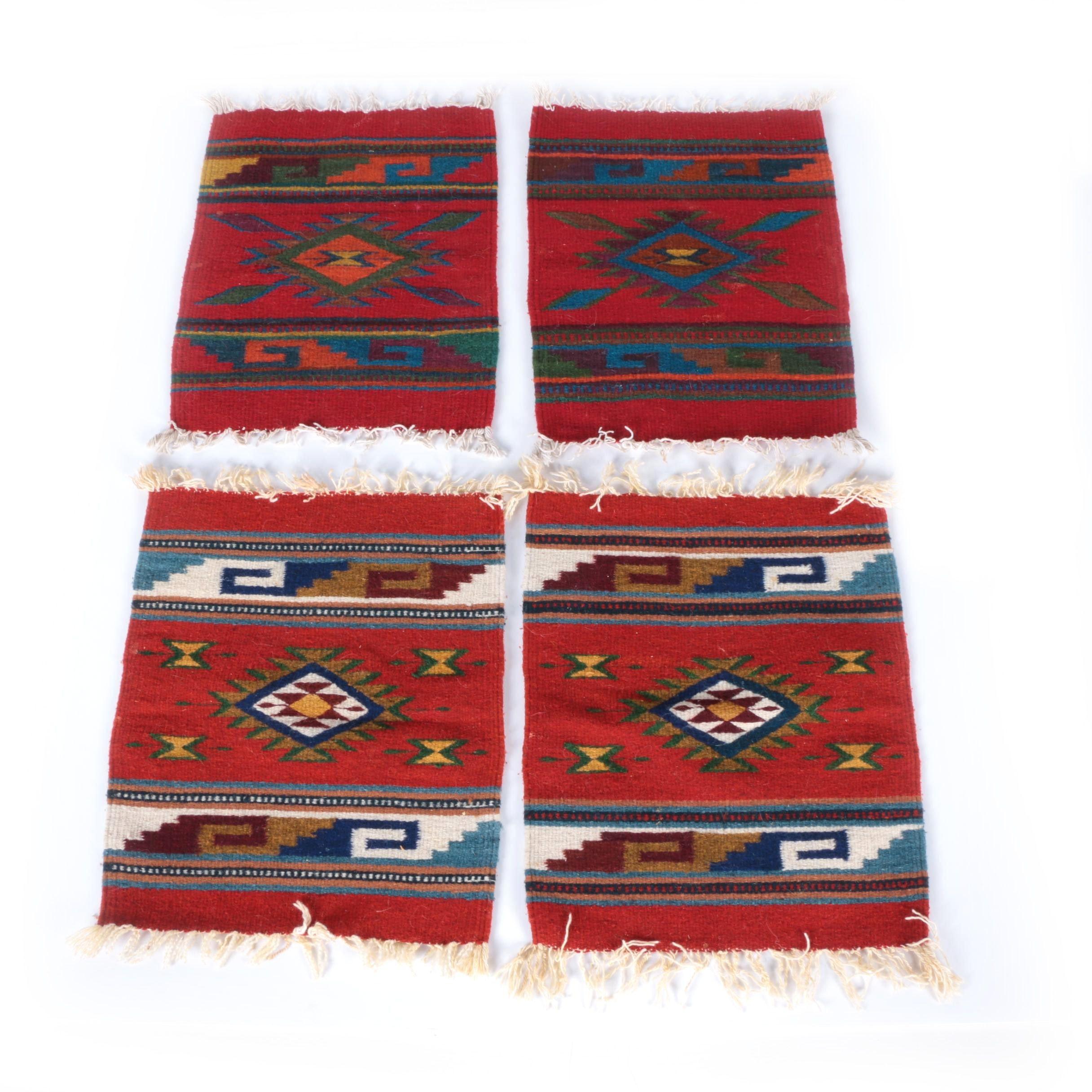 Handwoven Mexican Wool Mats