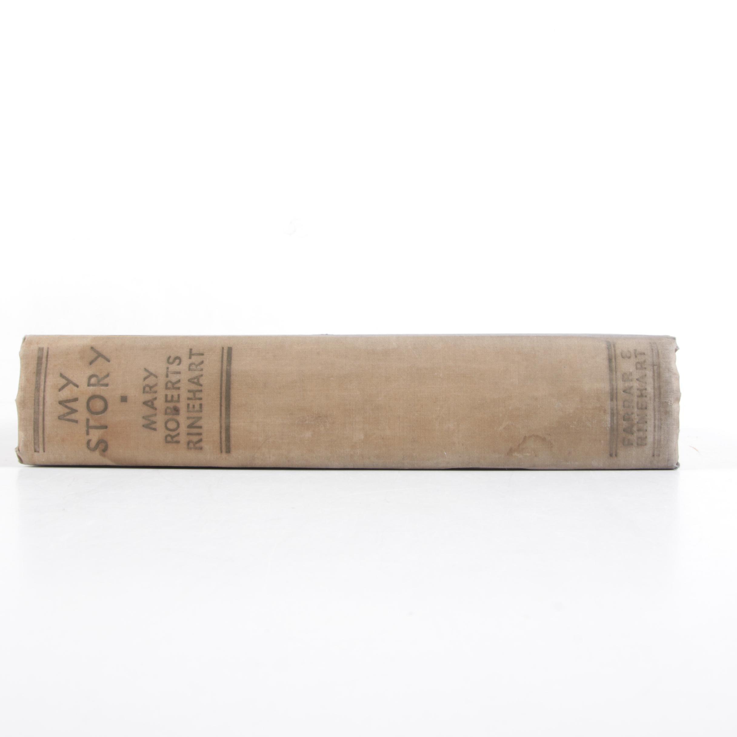 """1931 """"My Story"""" by Mary Roberts Rinehart"""