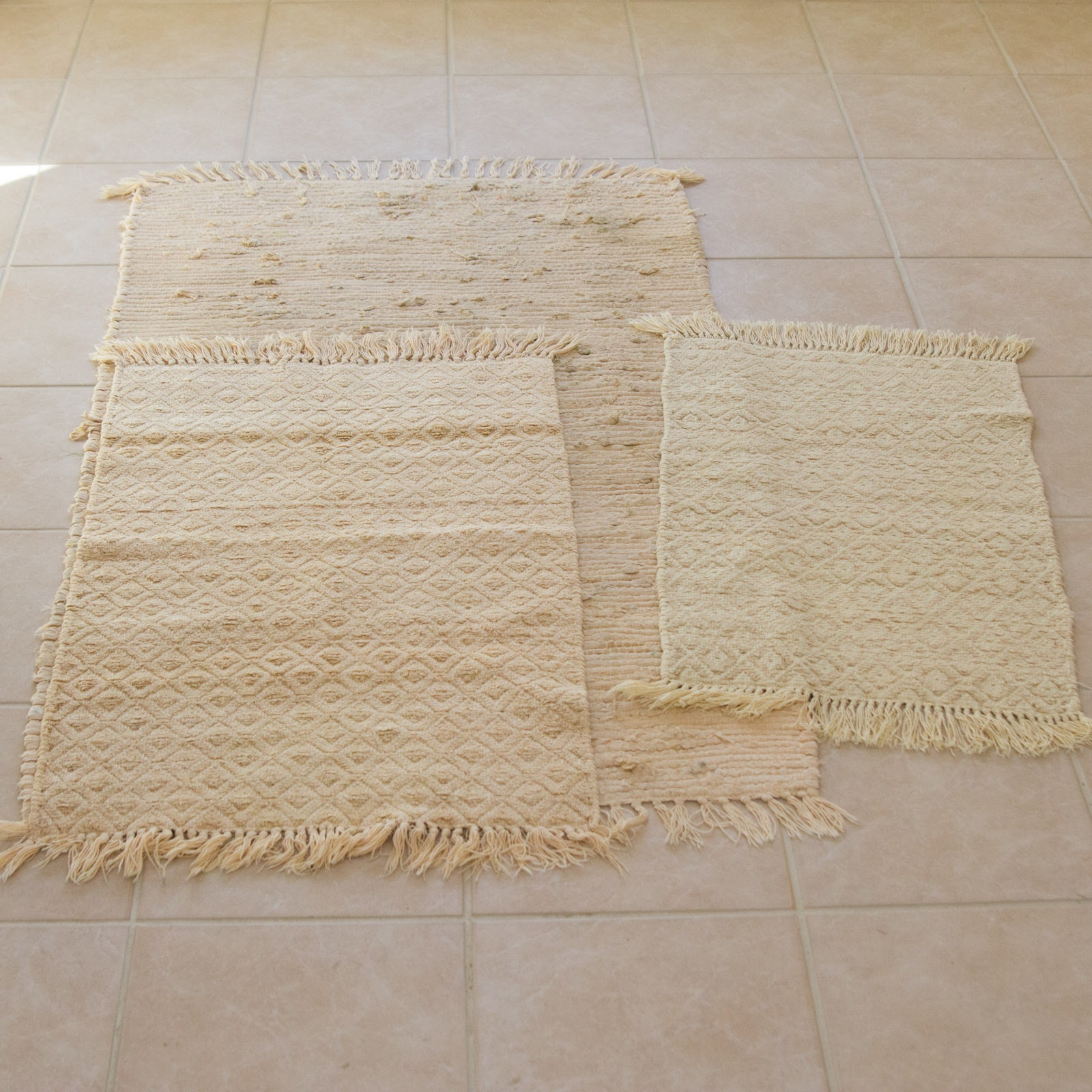 Assortment of Three Rag Rugs