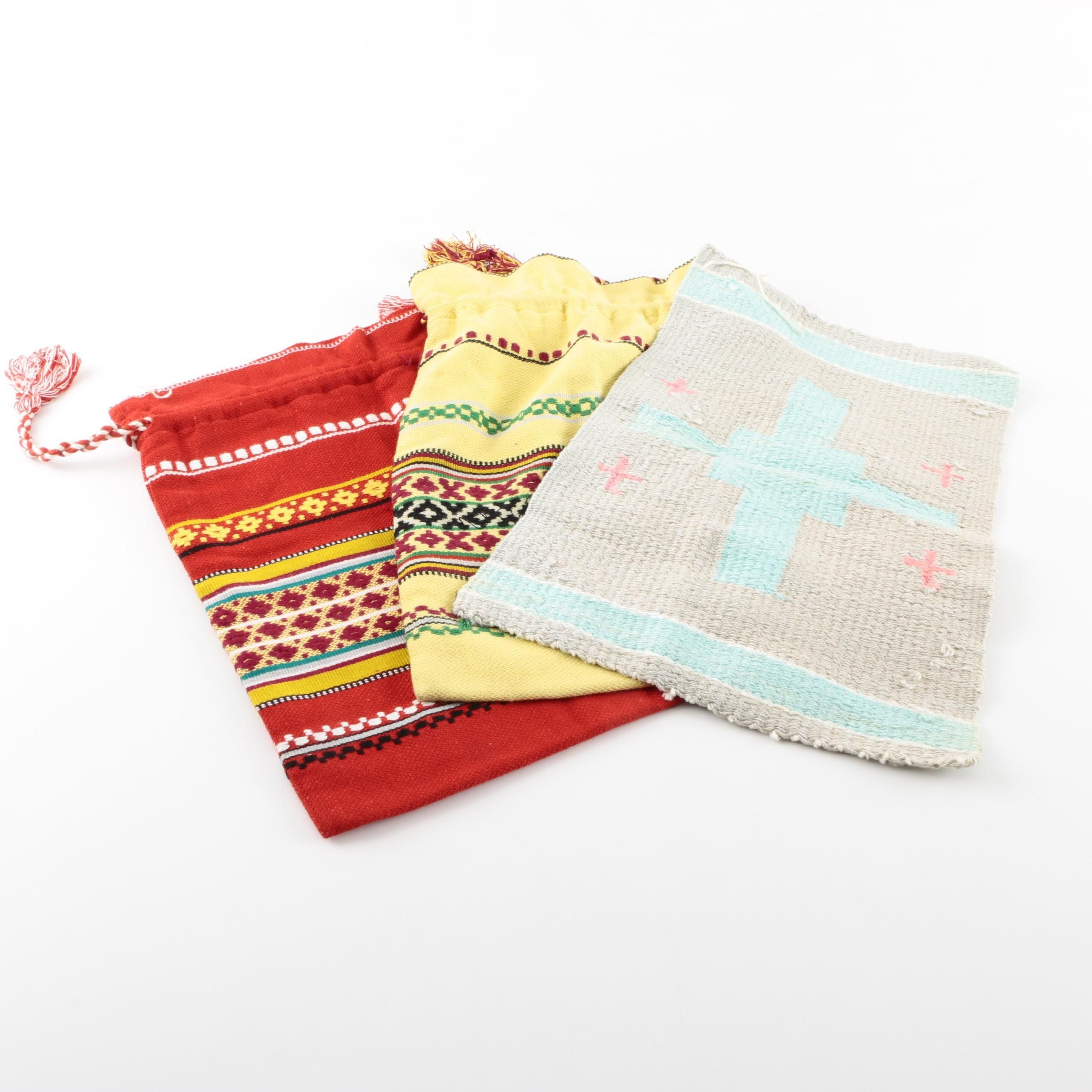 Two Southwestern Themed Bags and Table Mat