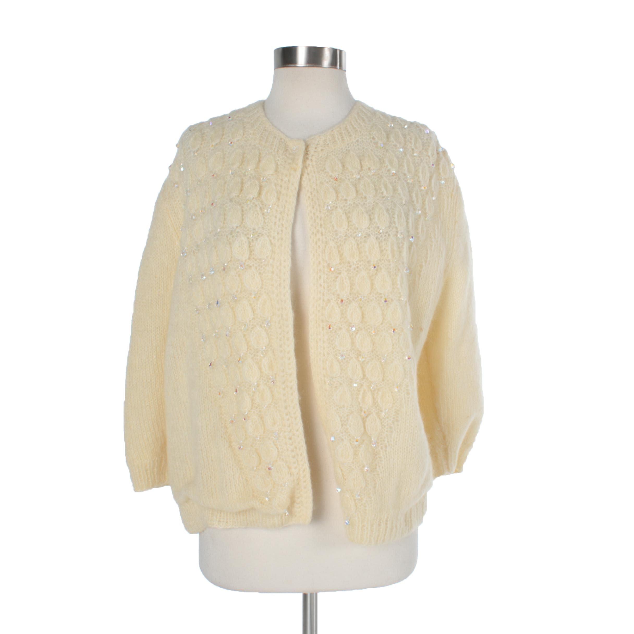 Women's Vintage Hand-Knit Cardigan