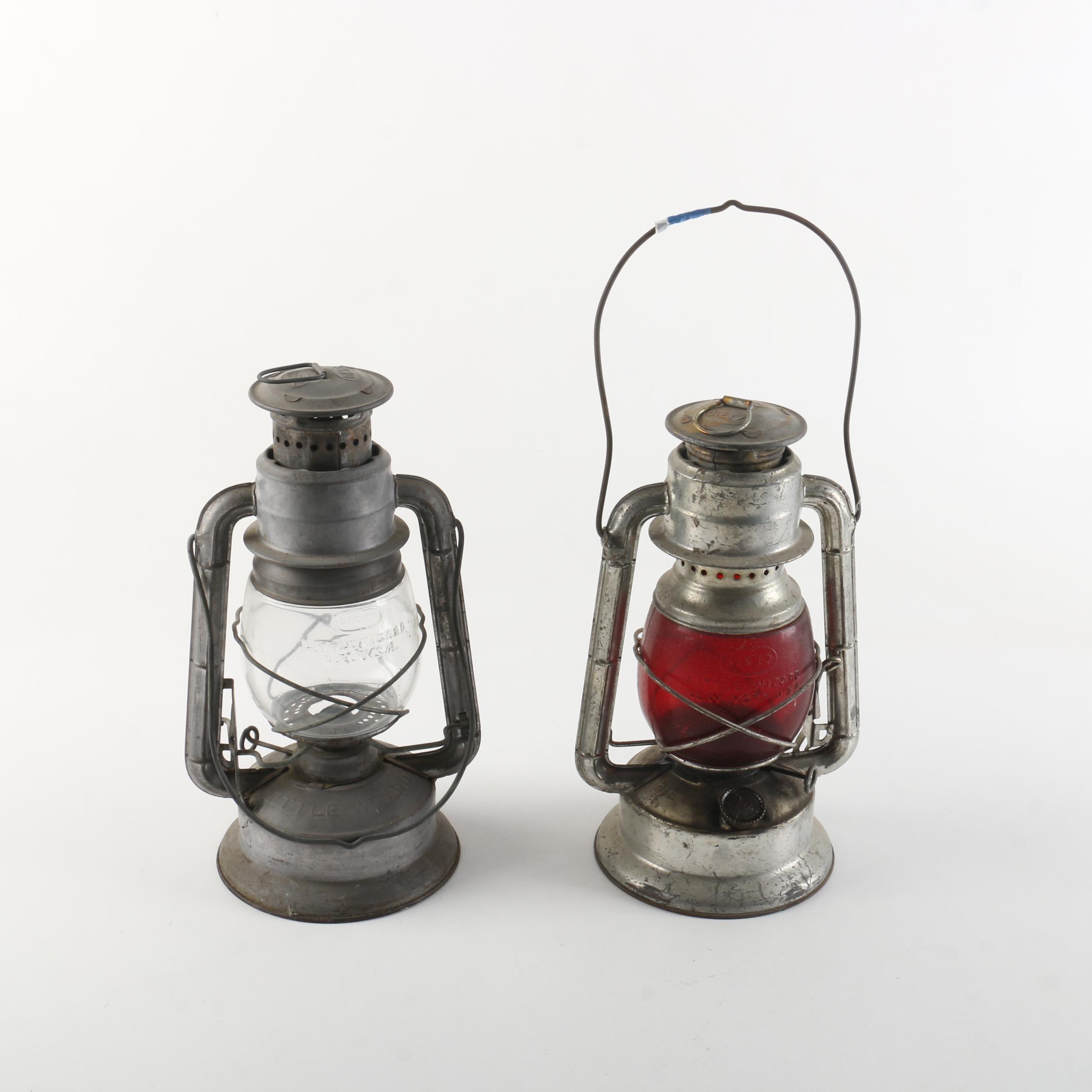 "Metal and Glass Dietz ""Little Wizard"" Lanterns"