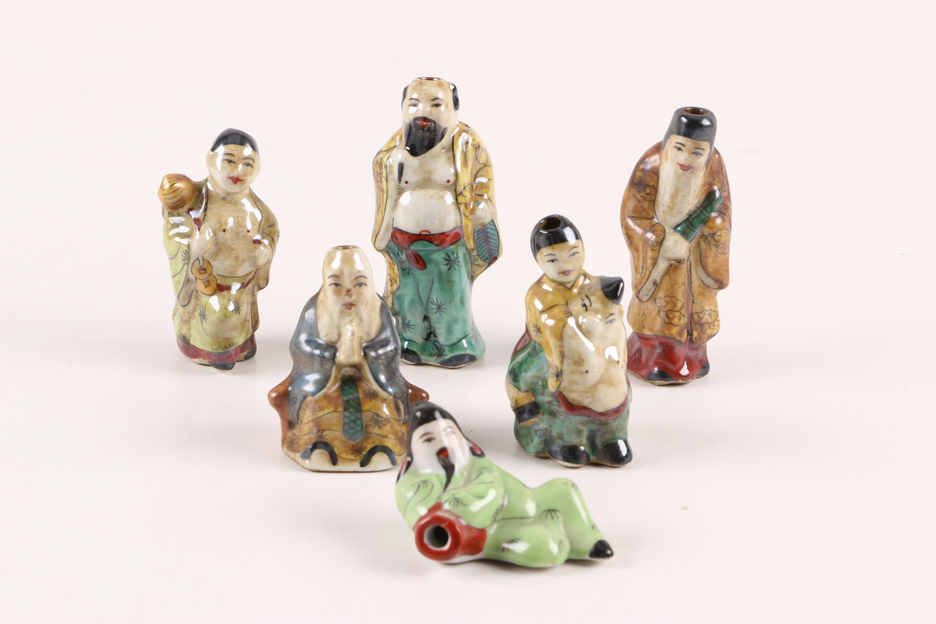 Chinese Figural Porcelain Snuff Bottles