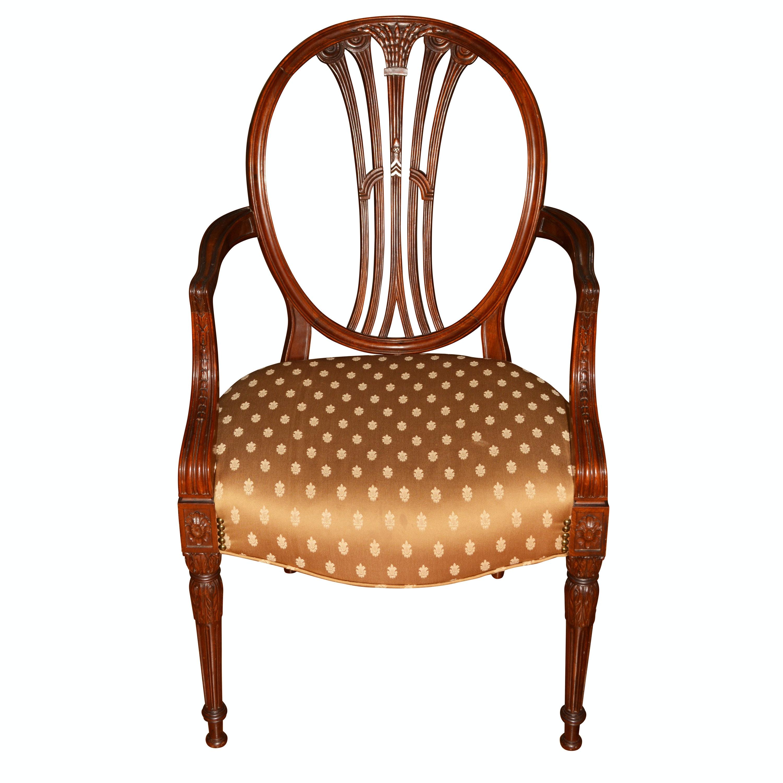 Hepplewhite Style Mahogany Armchair