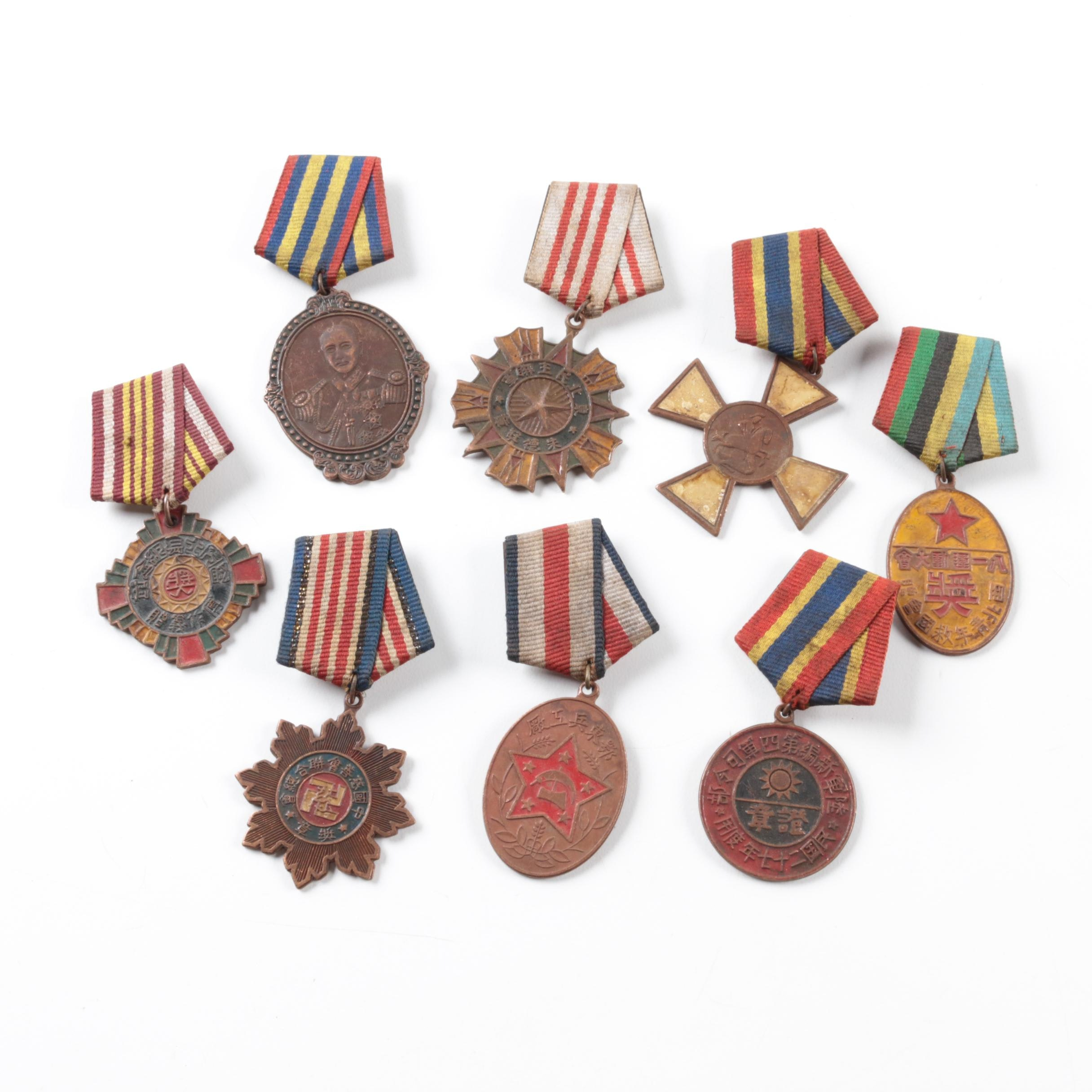 Chinese Medals Including Charities Medal and Chiang Kai Shek