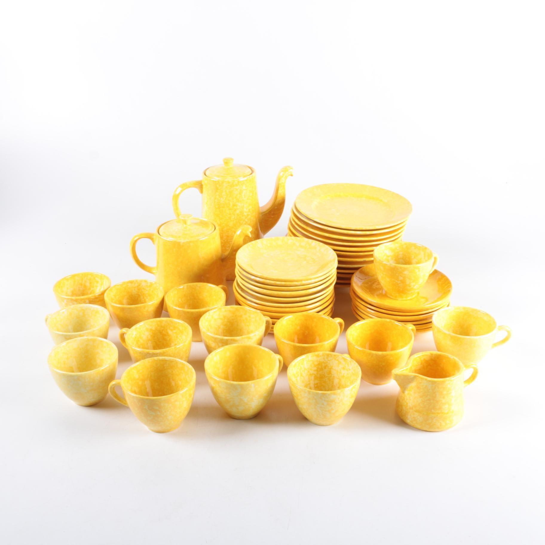 "Vintage Stangl ""Caughley Yellow"" Serveware"
