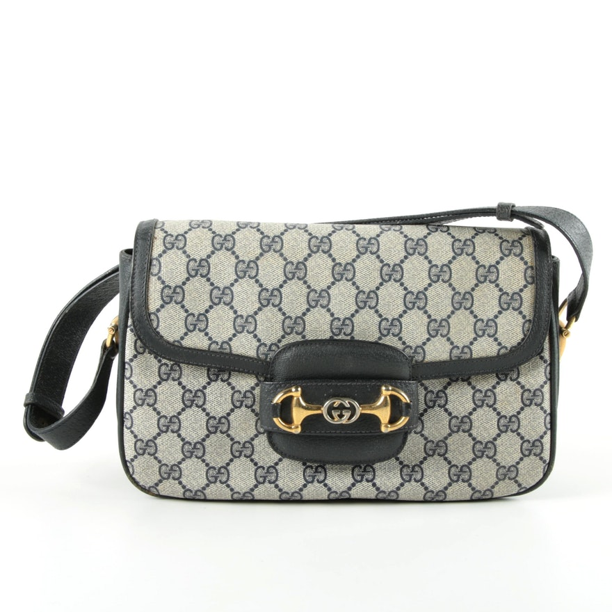 51cb3f00d309 Vintage Gucci Supreme Canvas Handbag