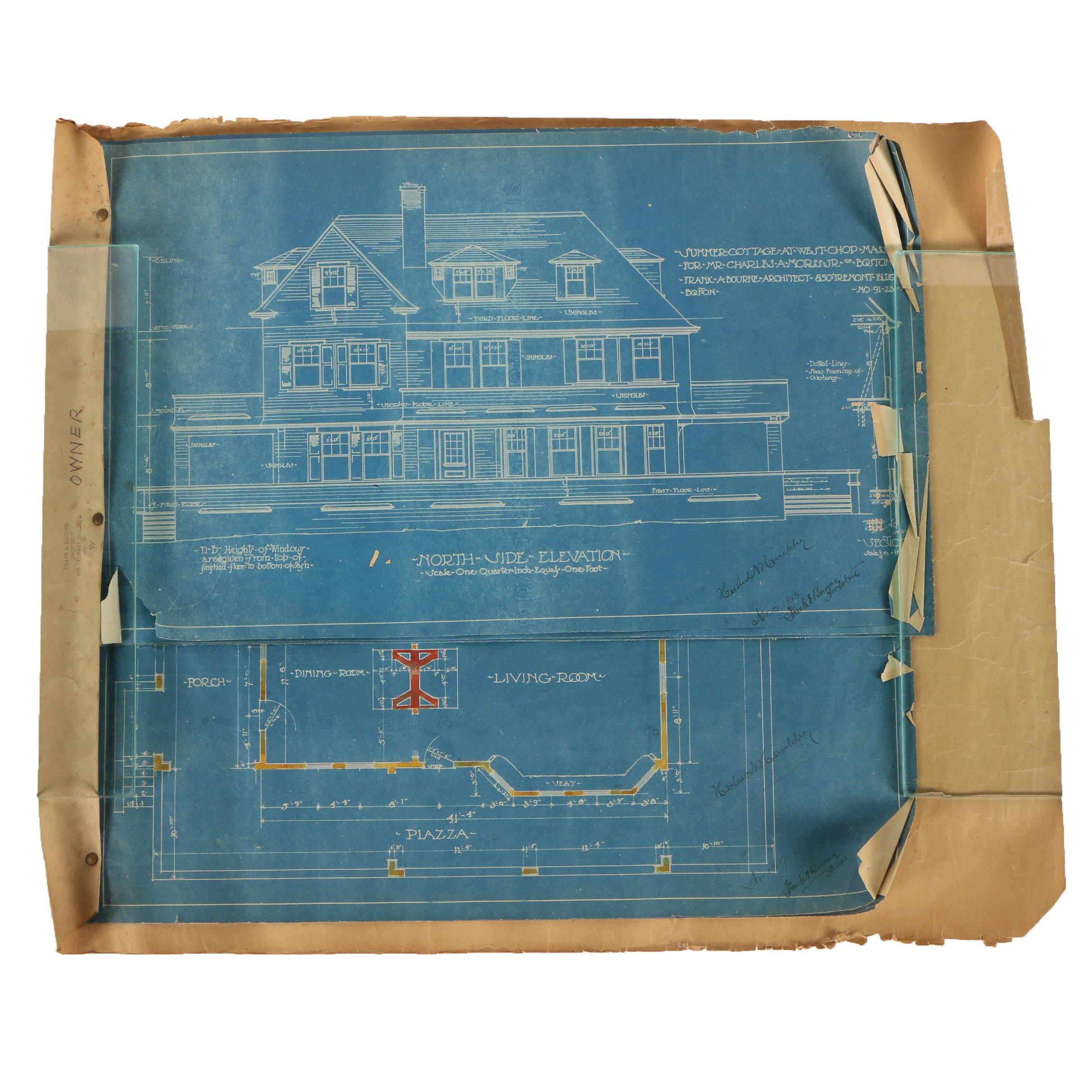 1903 Blueprints for Charles A. Morss House in Martha's Vineyard