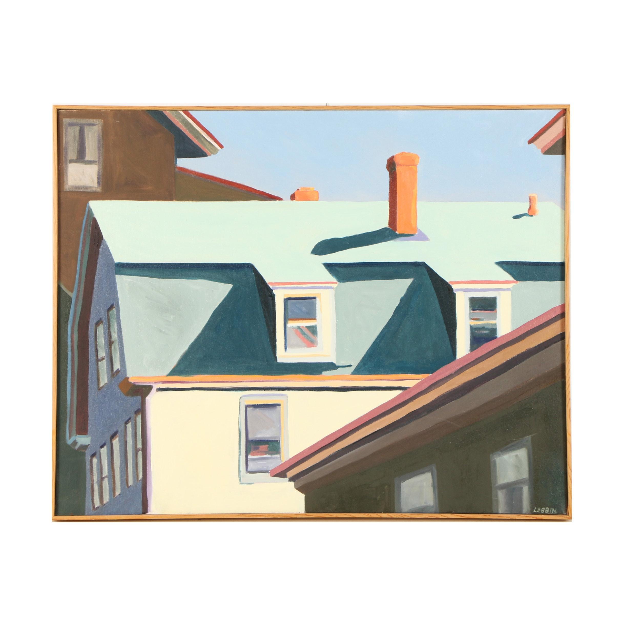 1982 Carole Sue Lebbin-Spector Oil Painting