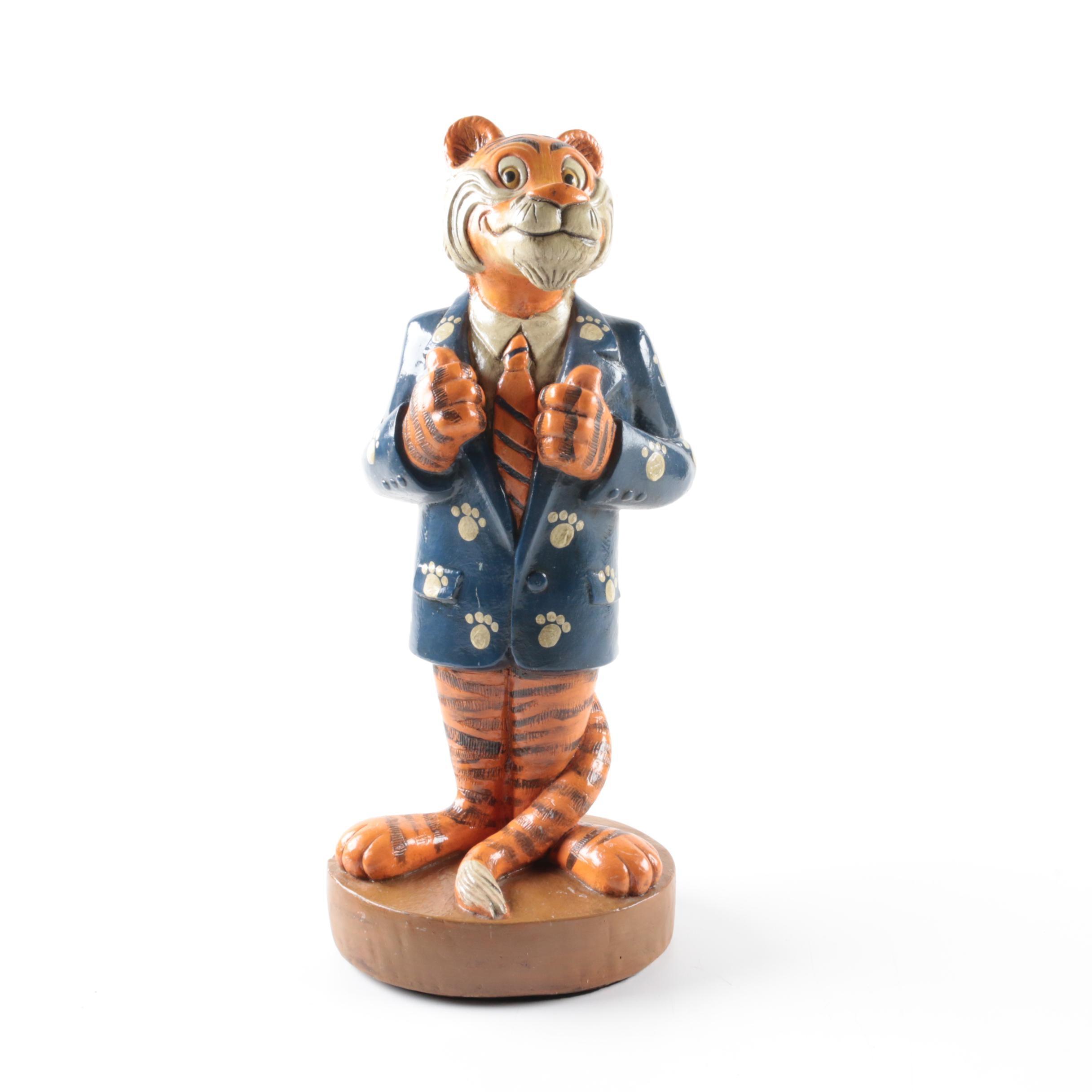 Clemson Tiger Figurine by Coleman